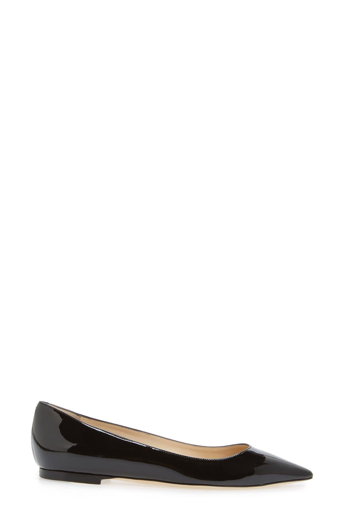 JIMMY CHOO,                             'Romy' Pointy Toe Flat,                             Alternate thumbnail 4, color,                             004