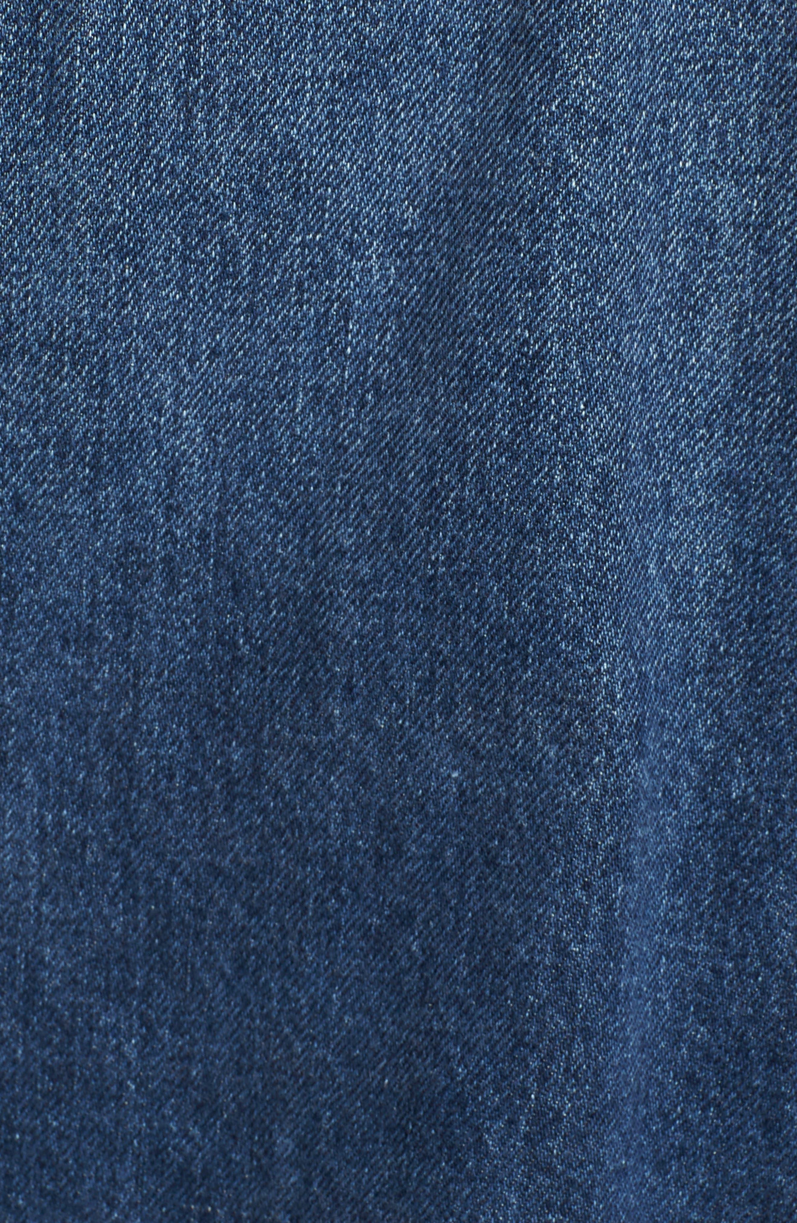 Rei Lace-Up Crop Denim Jacket,                             Alternate thumbnail 7, color,