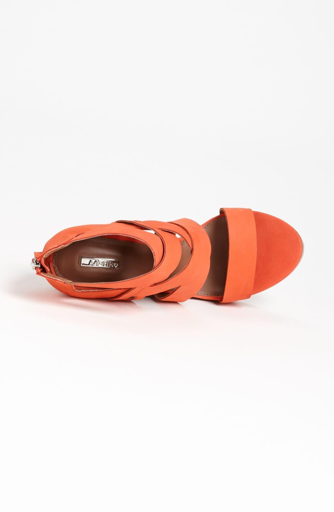 'Crisscross' Wedge Sandal,                             Alternate thumbnail 6, color,