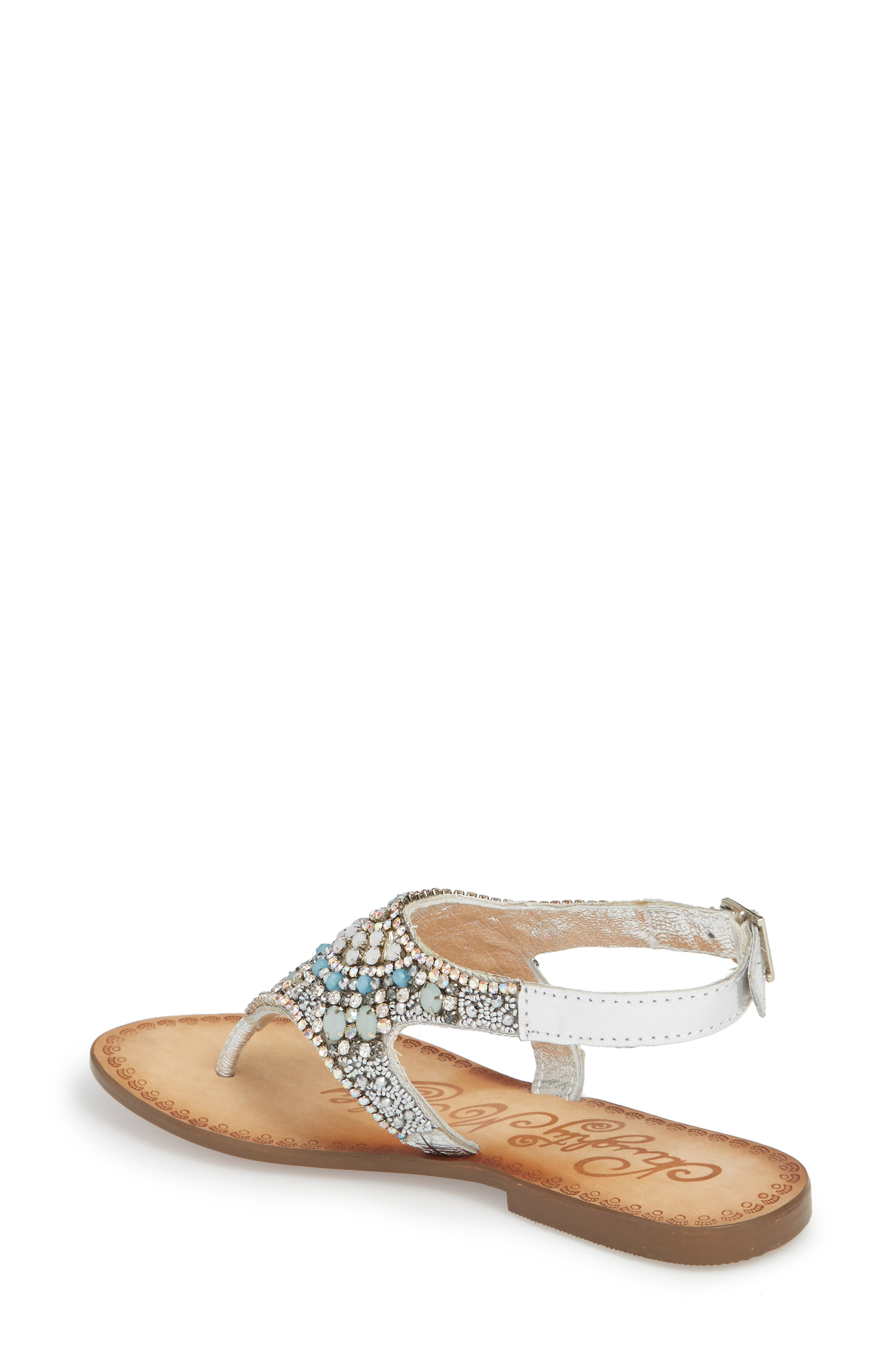 Iceberg Crystal Embellished Sandal,                             Alternate thumbnail 2, color,                             040