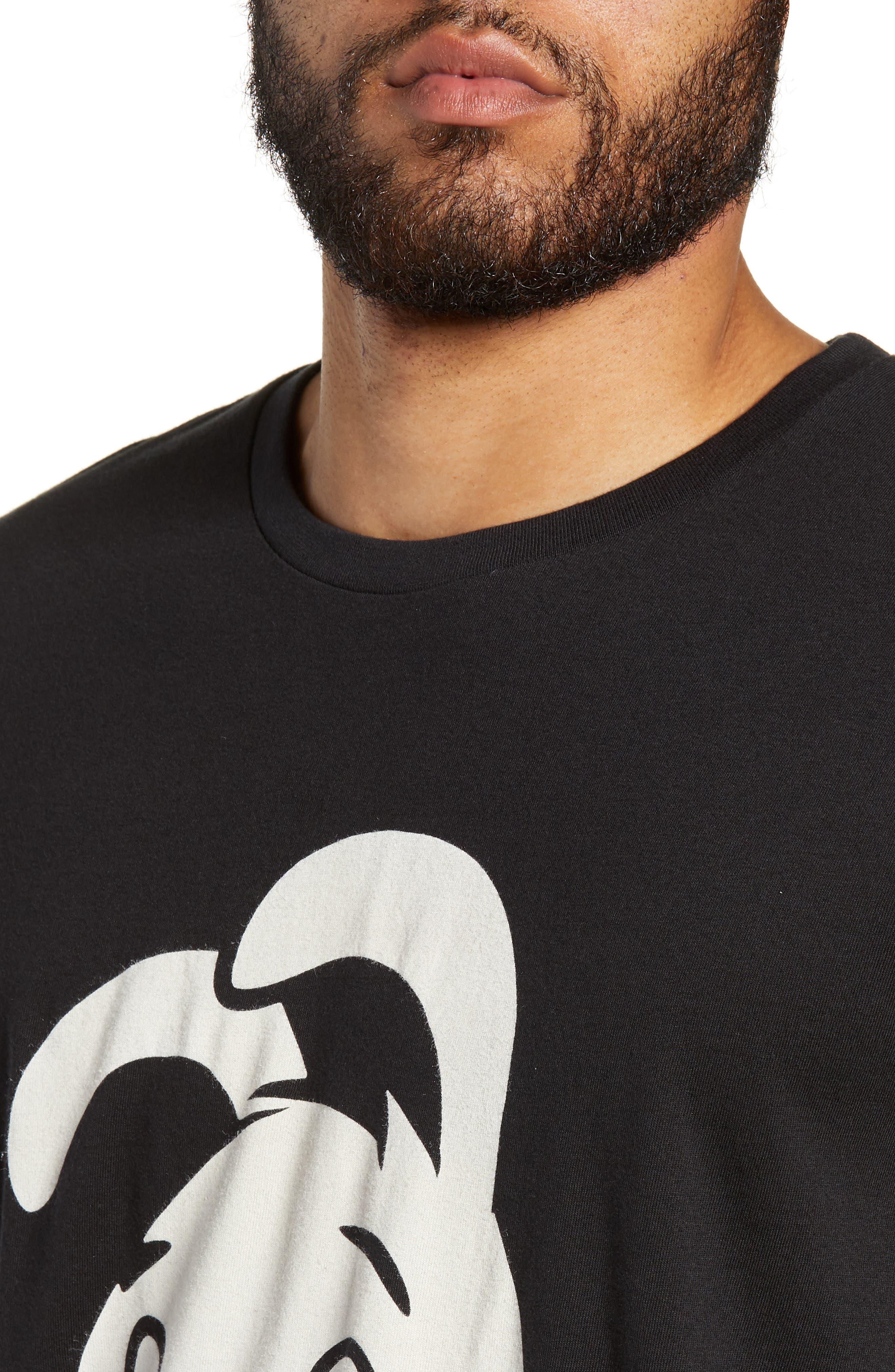 Thug for Life Graphic T-Shirt,                             Alternate thumbnail 4, color,                             BLACK