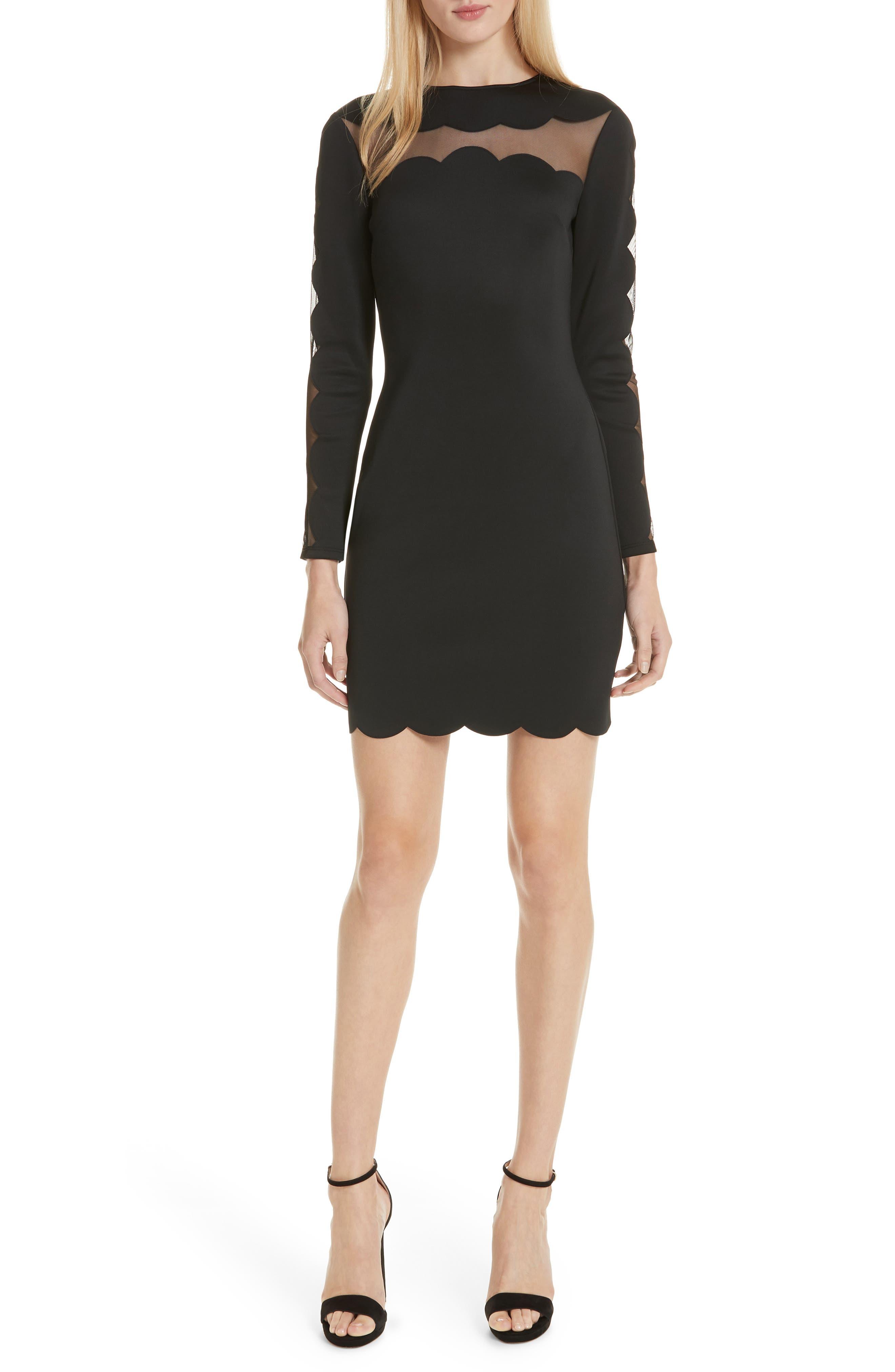 Serenity Joyous Body-Con Dress,                         Main,                         color, BLACK