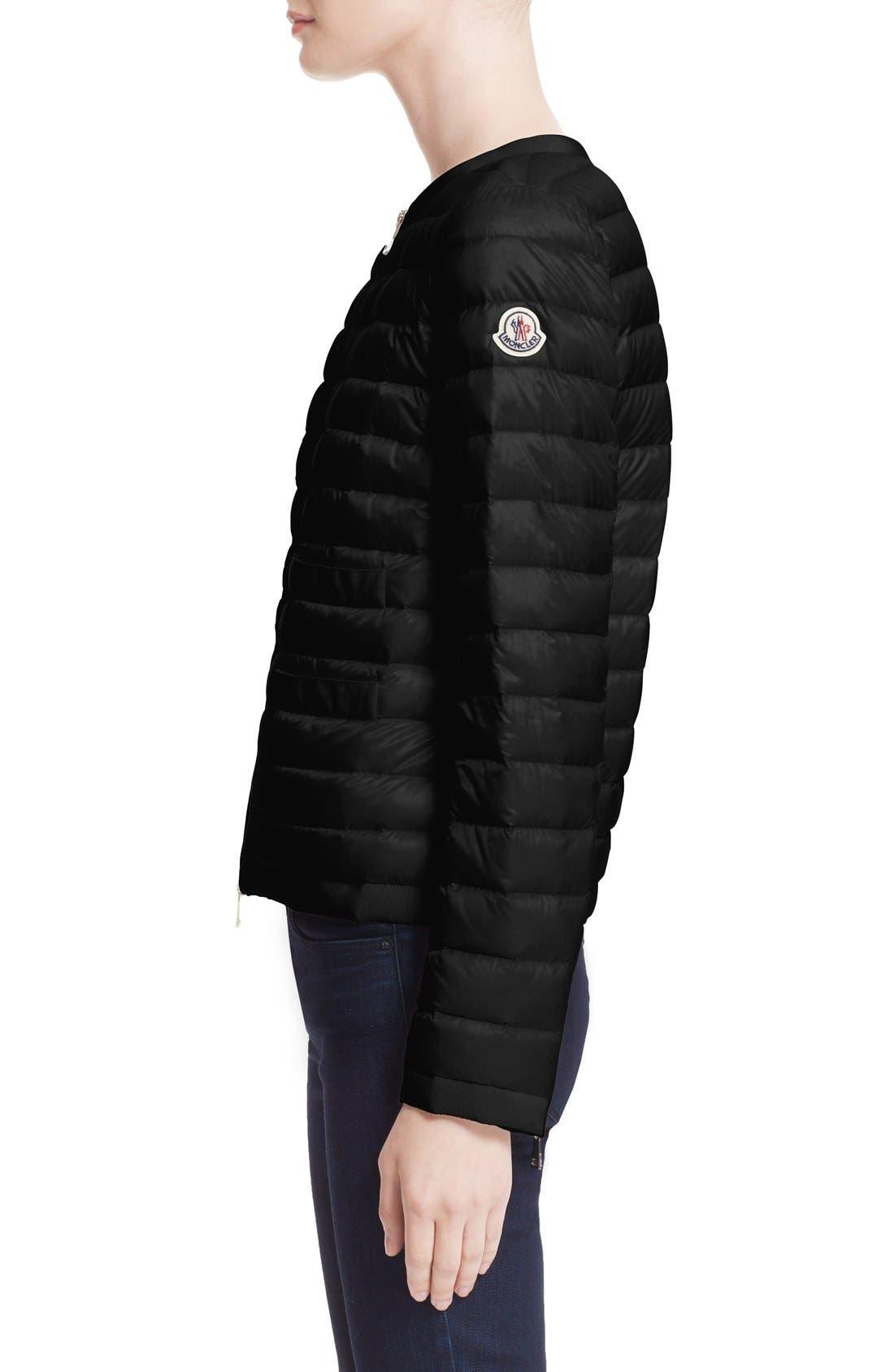 'Alose' Water Resistant Short Puffer Jacket,                             Alternate thumbnail 2, color,                             001