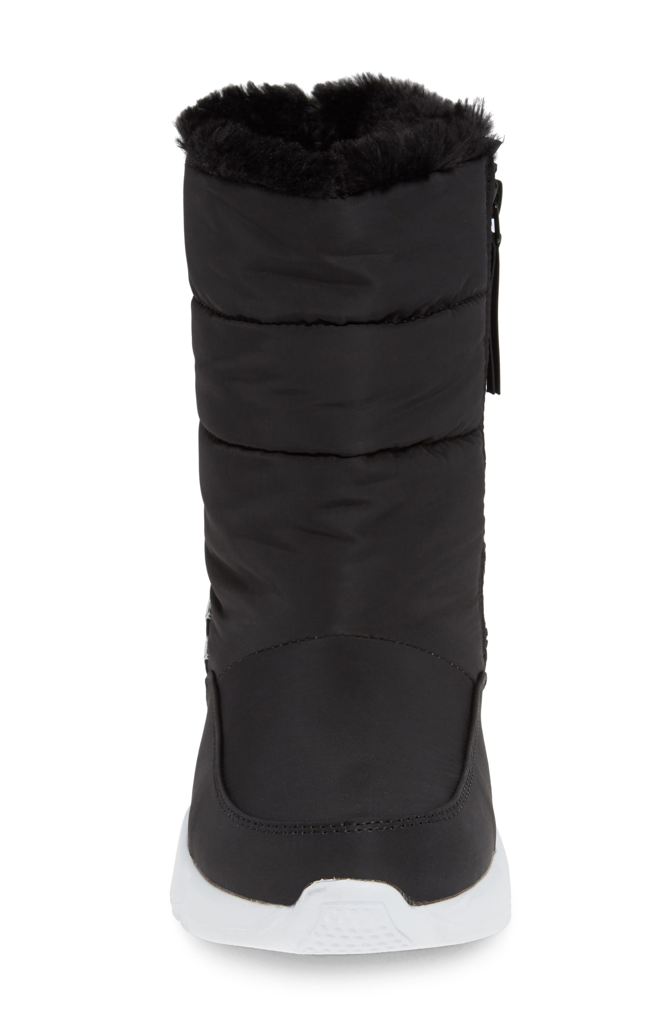STEVE MADDEN,                             Snowday Faux Fur Lined Boot,                             Alternate thumbnail 4, color,                             BLACK