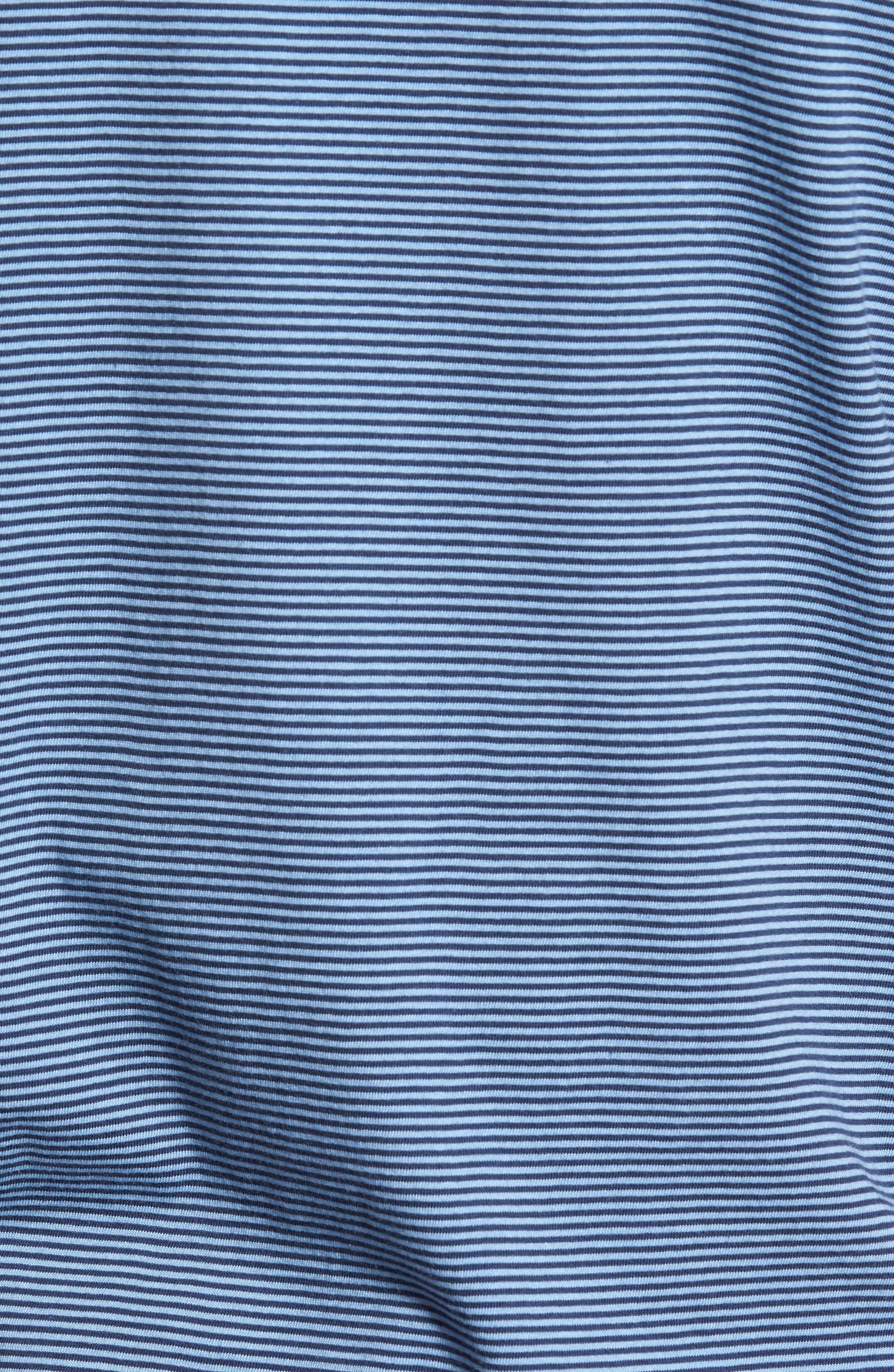 Gilmore Stripe Jersey Polo,                             Alternate thumbnail 5, color,                             BLUE