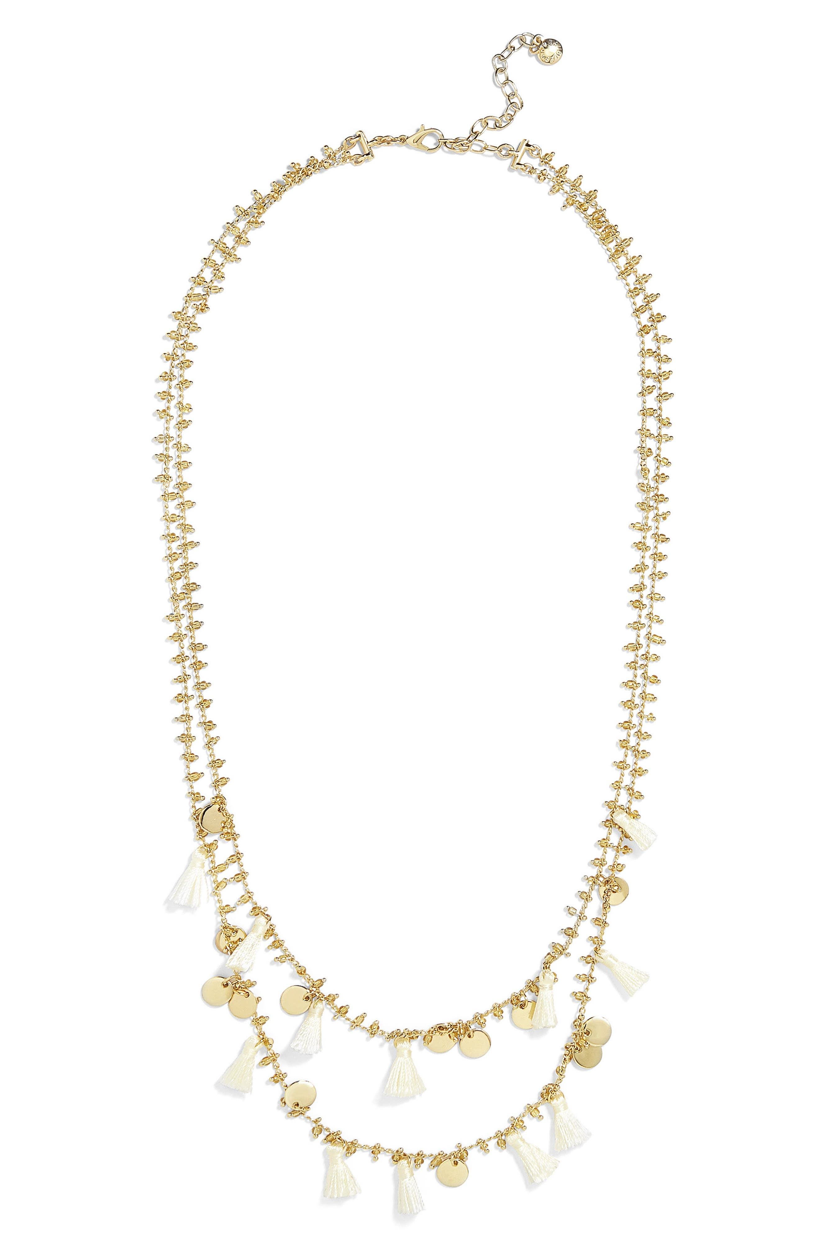 BAUBLEBAR Kirana Mini Tassel Layered Necklace, Main, color, 251