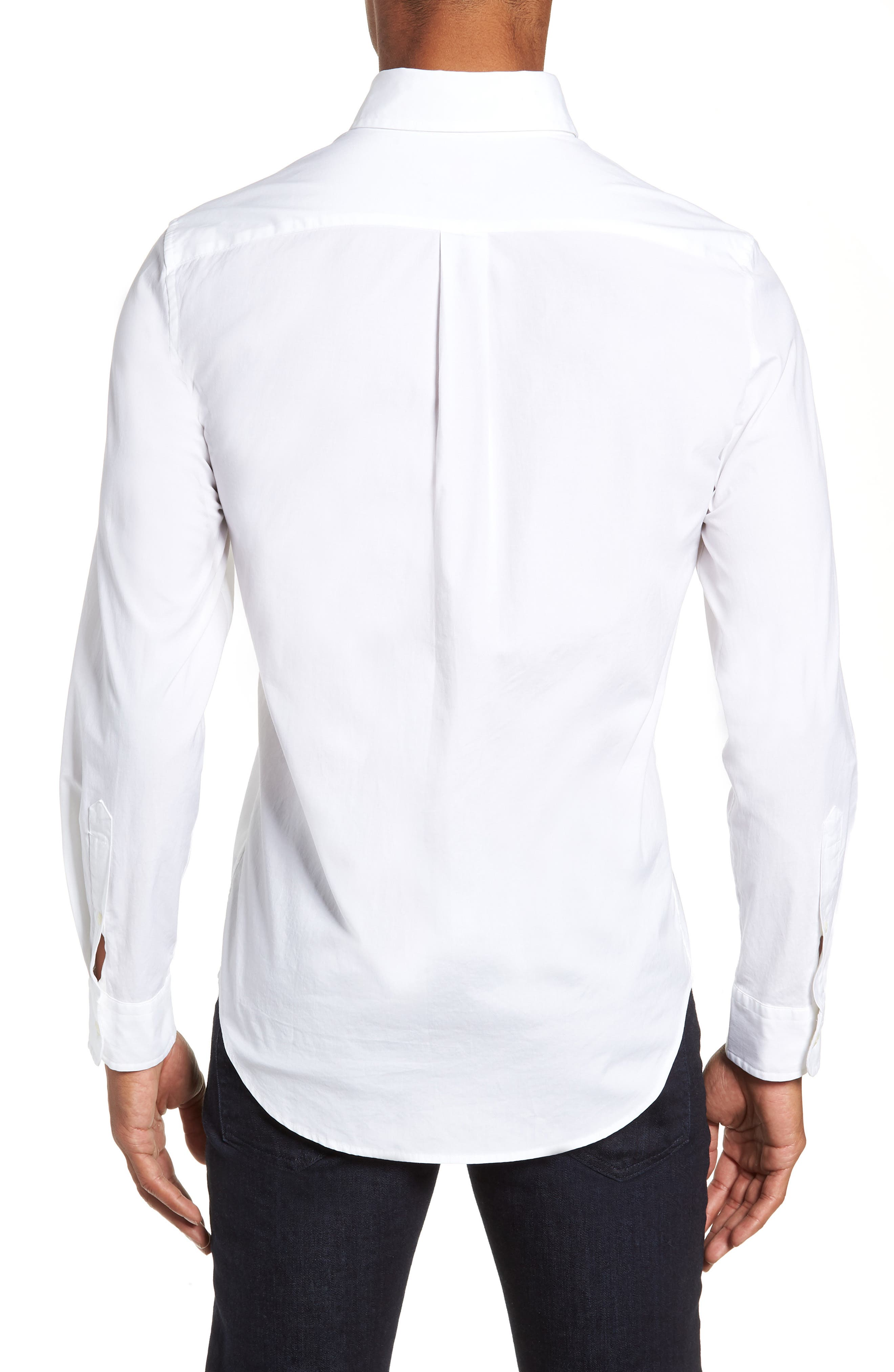 Eoe Murray Regular Fit Sport Shirt,                             Alternate thumbnail 3, color,                             WHITE CAP