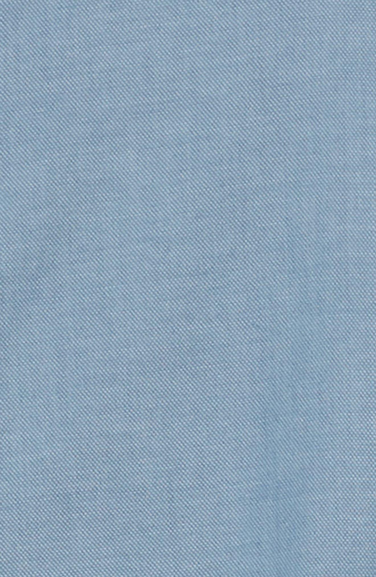 ELEVENTY,                             Trim Fit Stretch Solid Sport Shirt,                             Alternate thumbnail 6, color,                             DENIM