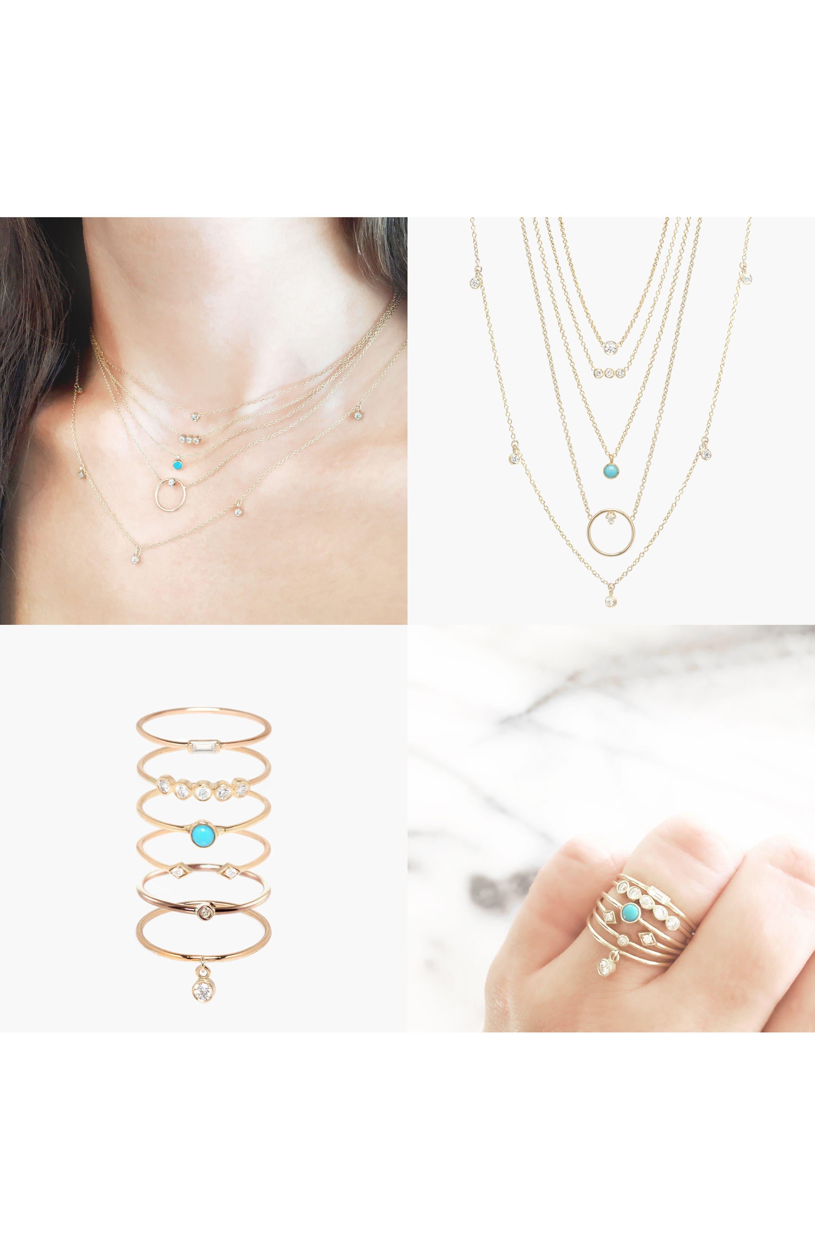 Diamond Bezel Pendant Necklace,                             Alternate thumbnail 3, color,                             YELLOW GOLD