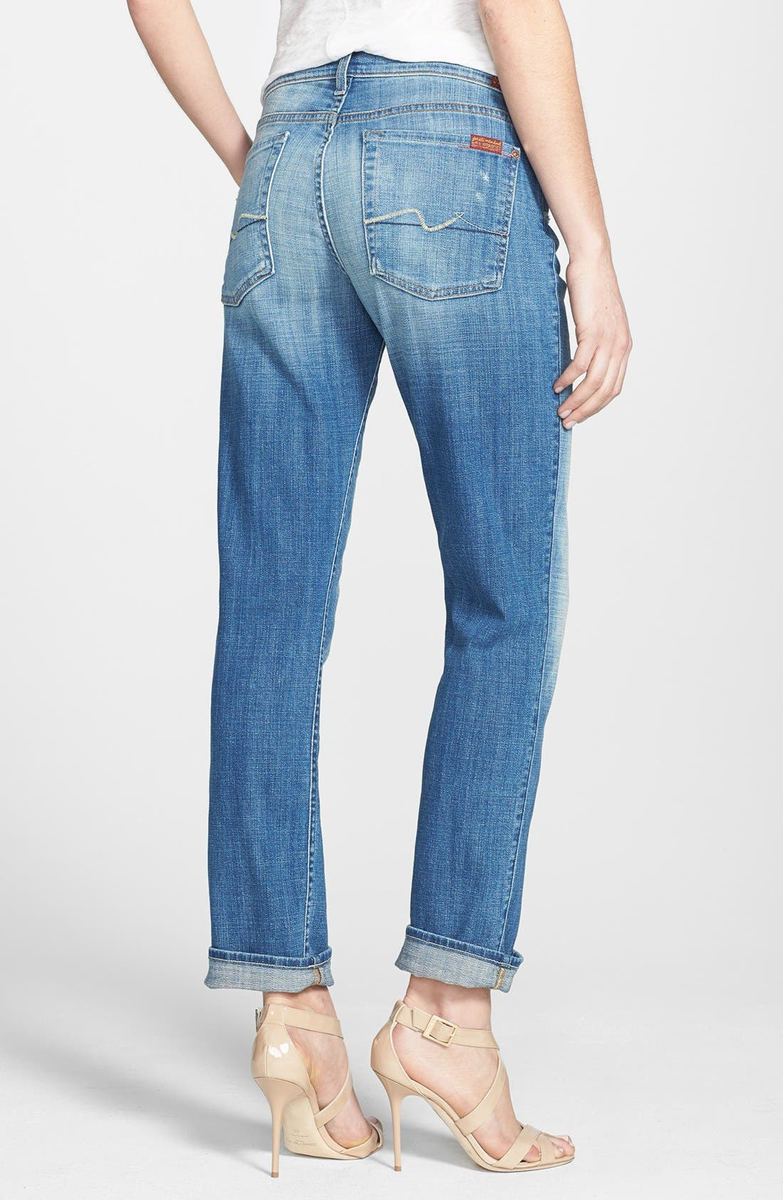 Josefina Boyfriend Jeans,                             Alternate thumbnail 3, color,                             400