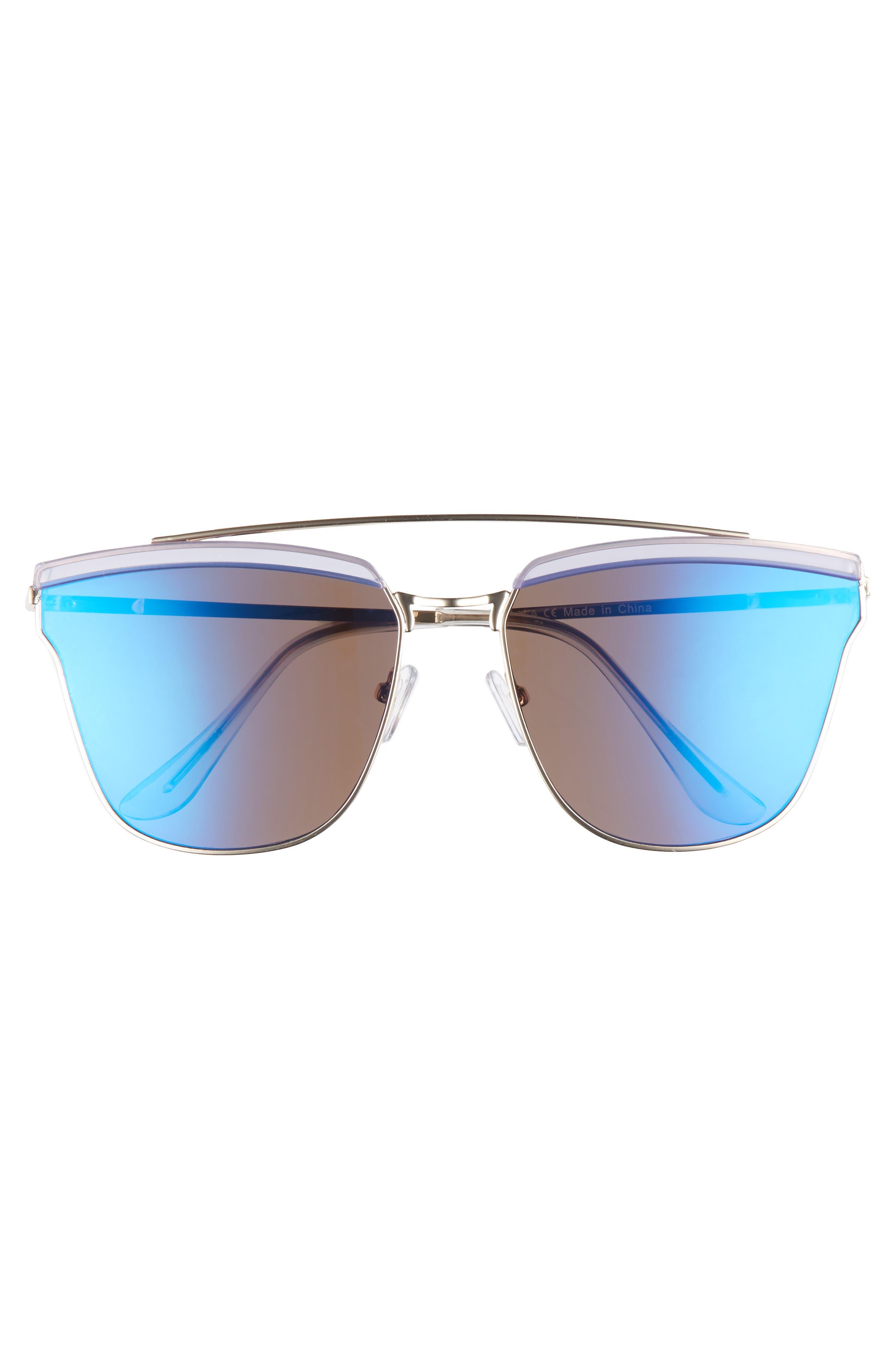 60mm Mirror Sunglasses,                             Alternate thumbnail 3, color,                             712