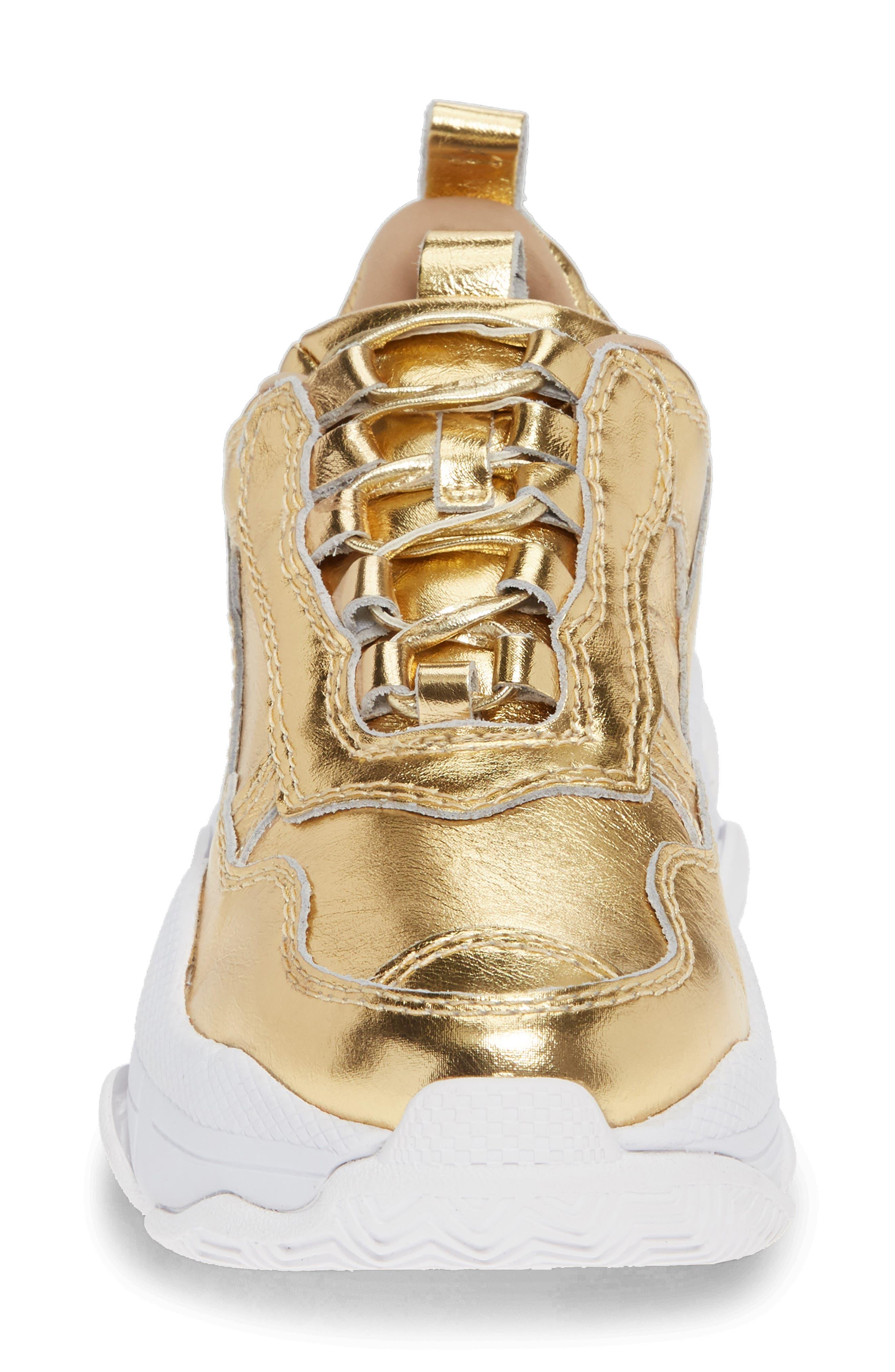 Lo-Fi Sneaker,                             Alternate thumbnail 4, color,                             GOLD CRINKLE