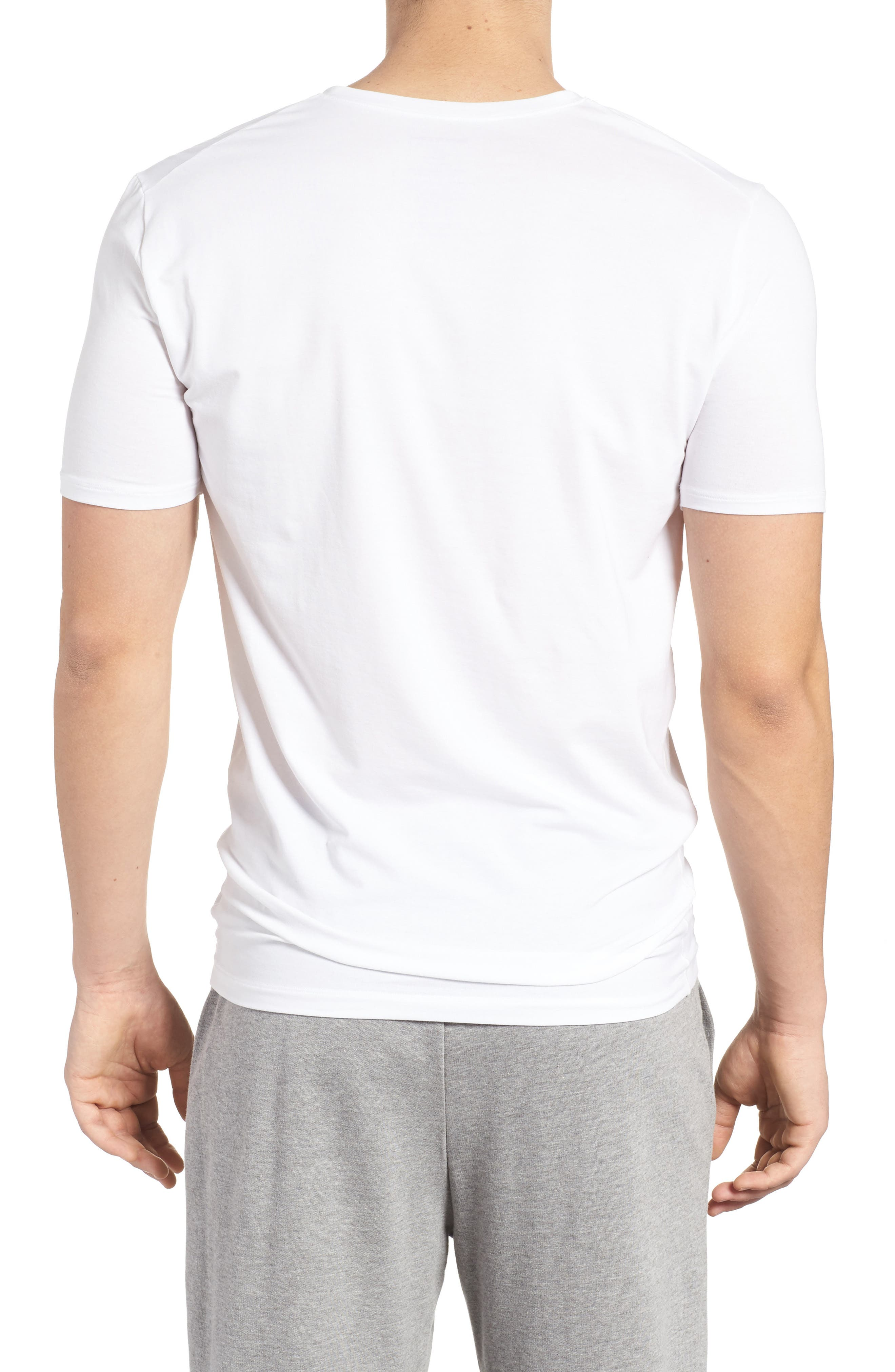 Cool Cotton High V-Neck Undershirt,                             Alternate thumbnail 2, color,                             WHITE