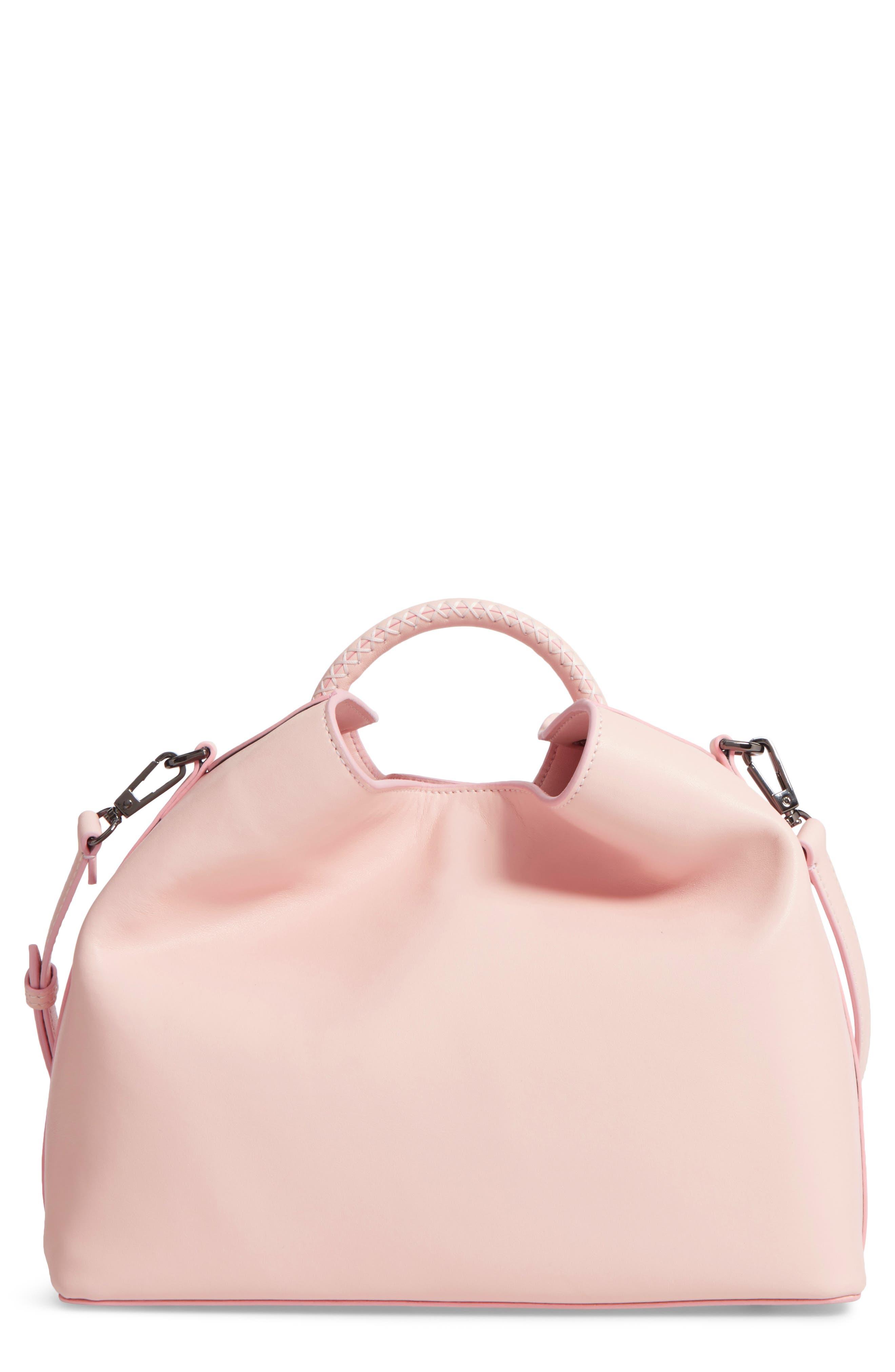 Raisin Leather Handbag,                             Main thumbnail 7, color,