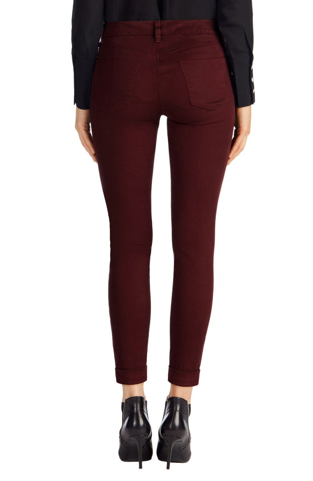 'Anja' Cuffed Crop Skinny Jeans,                             Alternate thumbnail 25, color,
