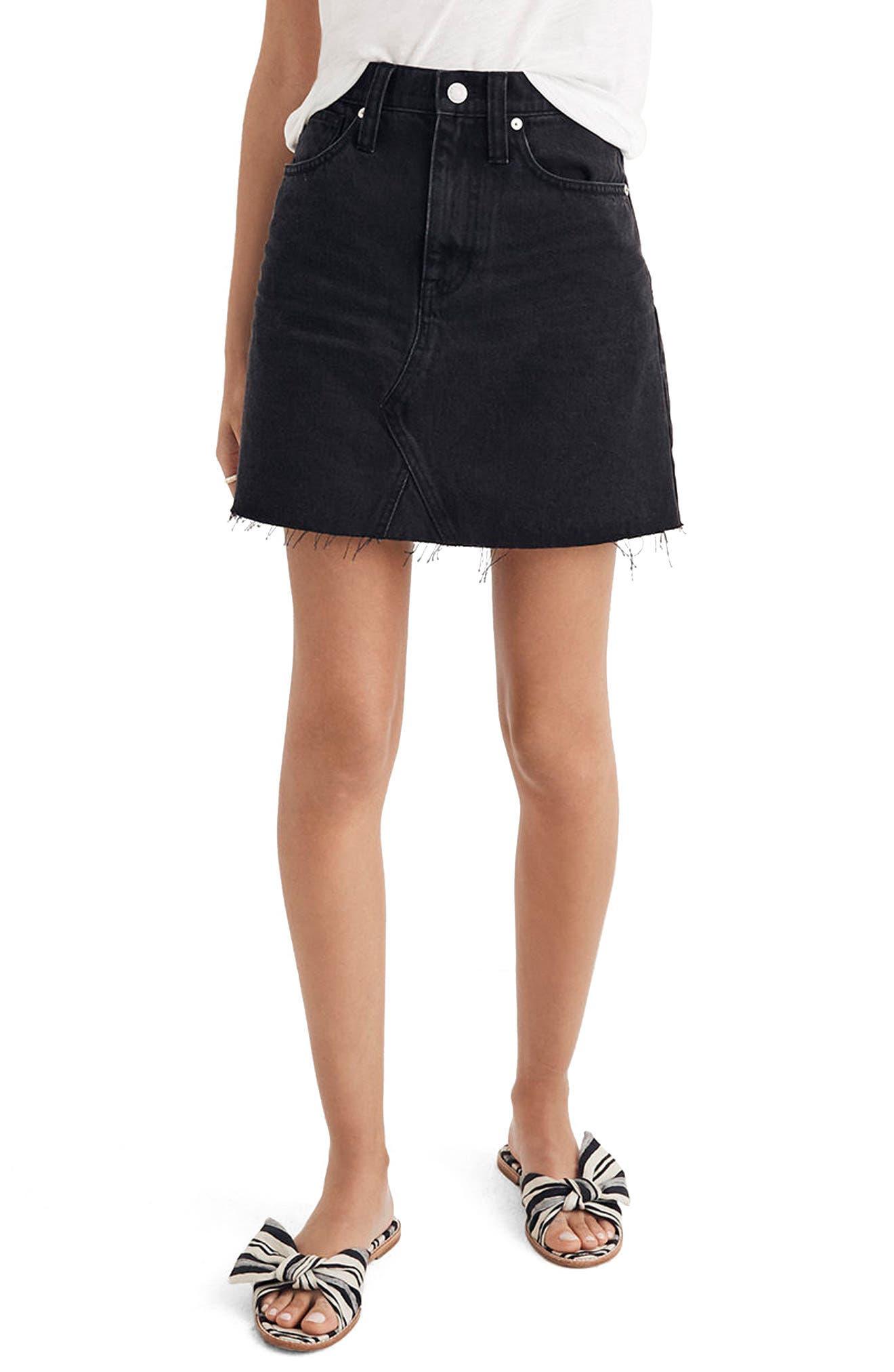 Frisco Denim Miniskirt,                         Main,                         color, 001