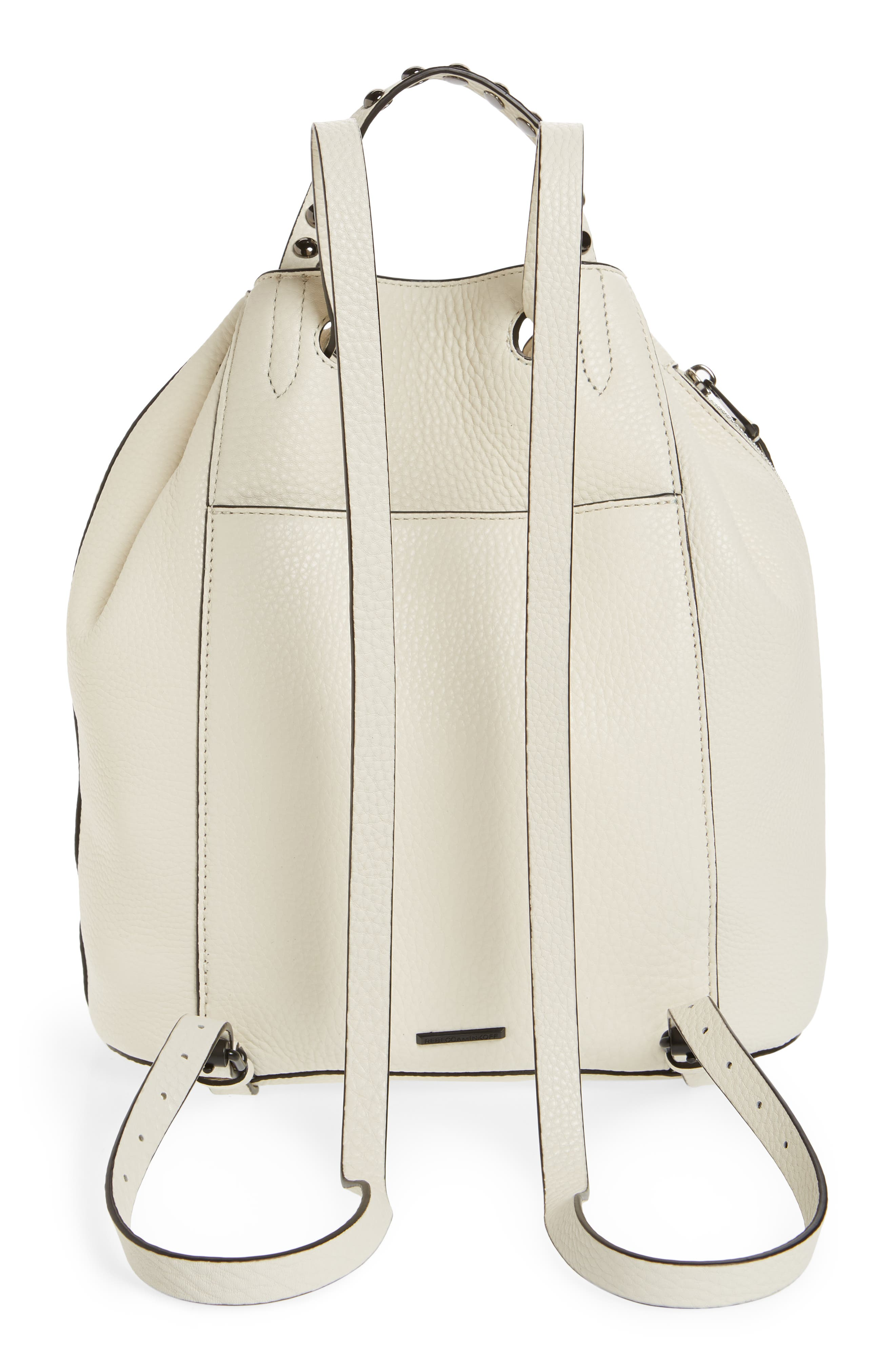 Blythe Leather Backpack,                             Alternate thumbnail 3, color,                             ANTIQUE WHITE