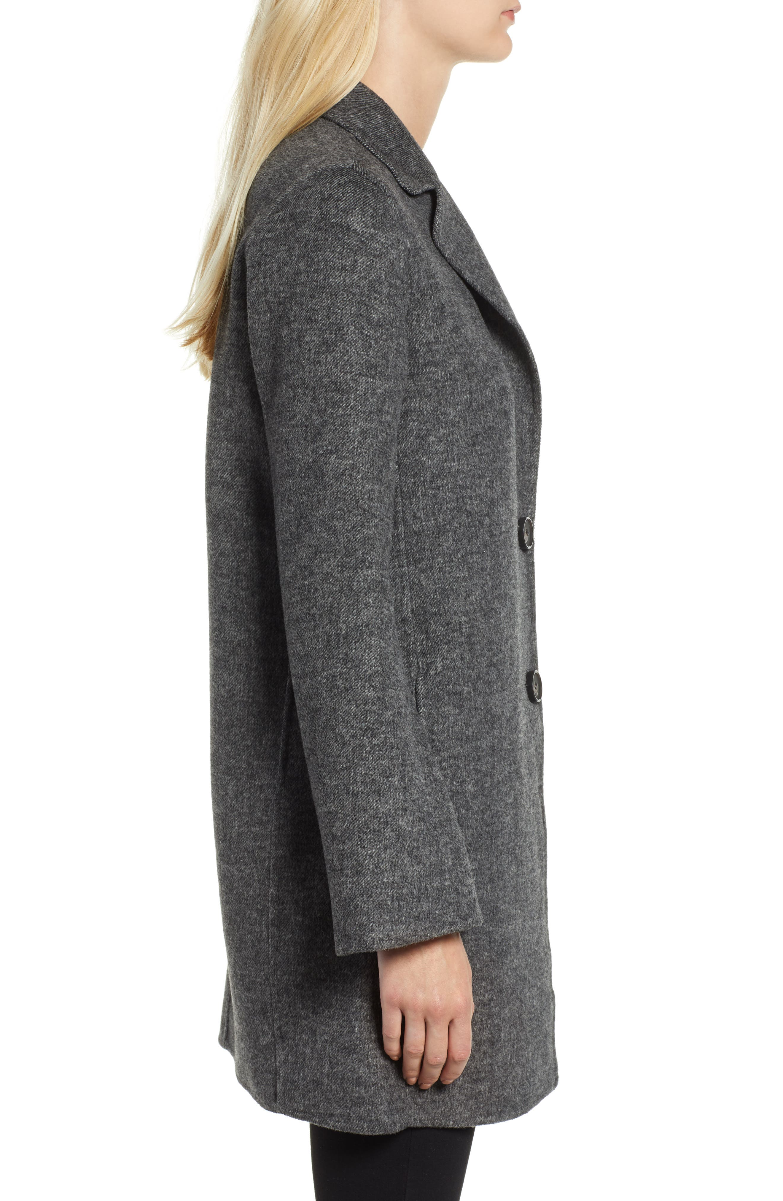 Jayden Bell Sleeve Jacket,                             Alternate thumbnail 3, color,                             GREY TWILL