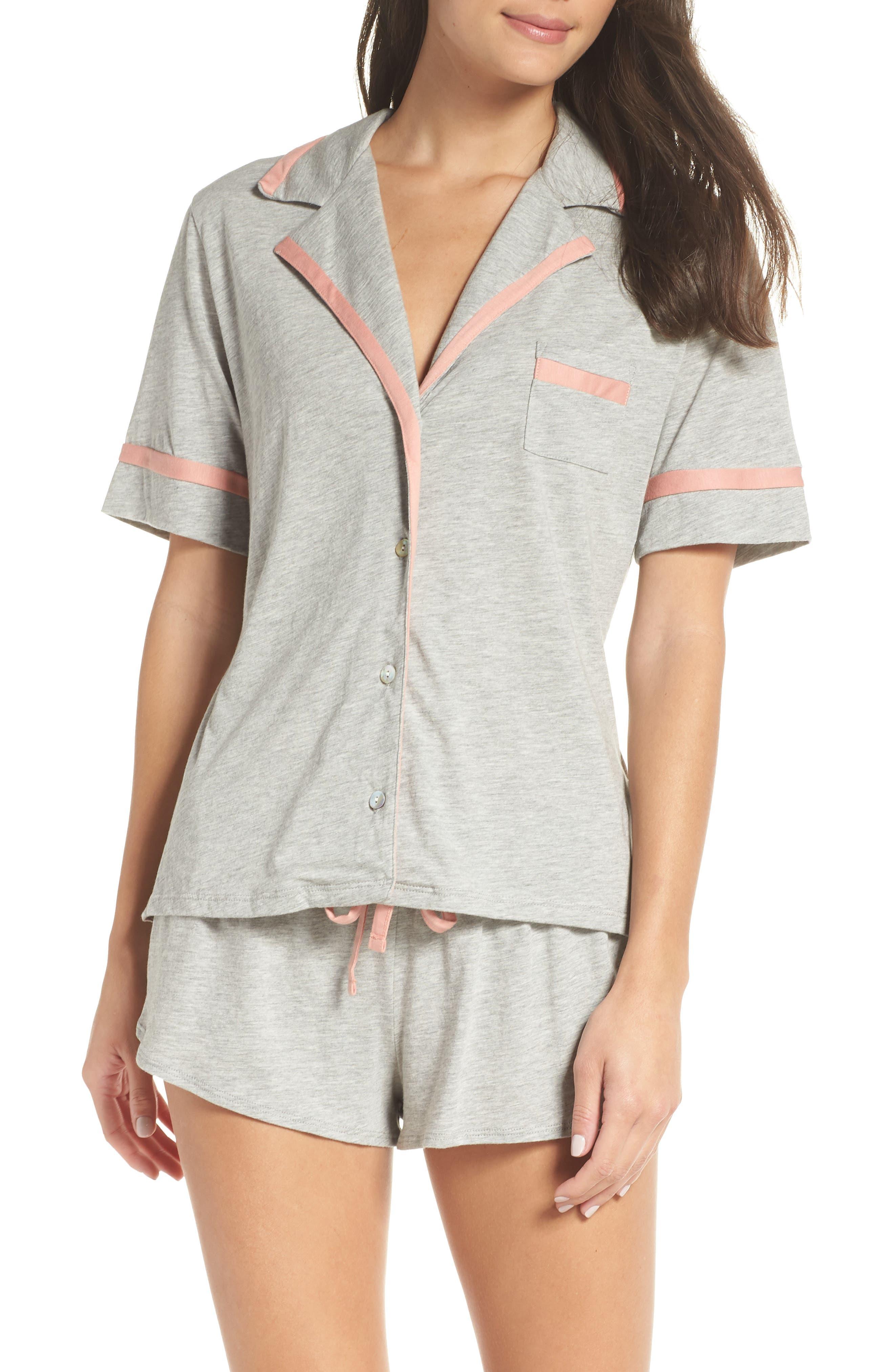 COSABELLA Amore Pajamas, Main, color, HEATHER GRAY/ MAUVELOUS