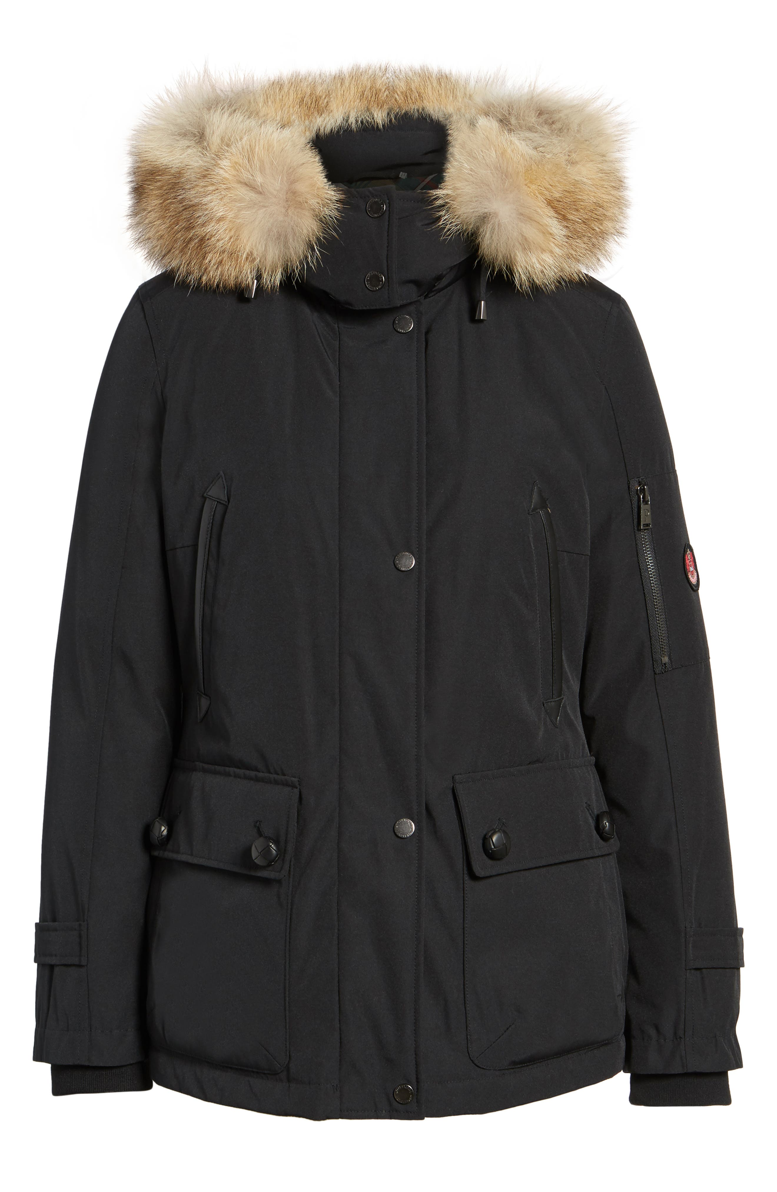 Bachelor Water Repellent Hooded Down Parka with Genuine Coyote Fur Trim,                             Alternate thumbnail 17, color,