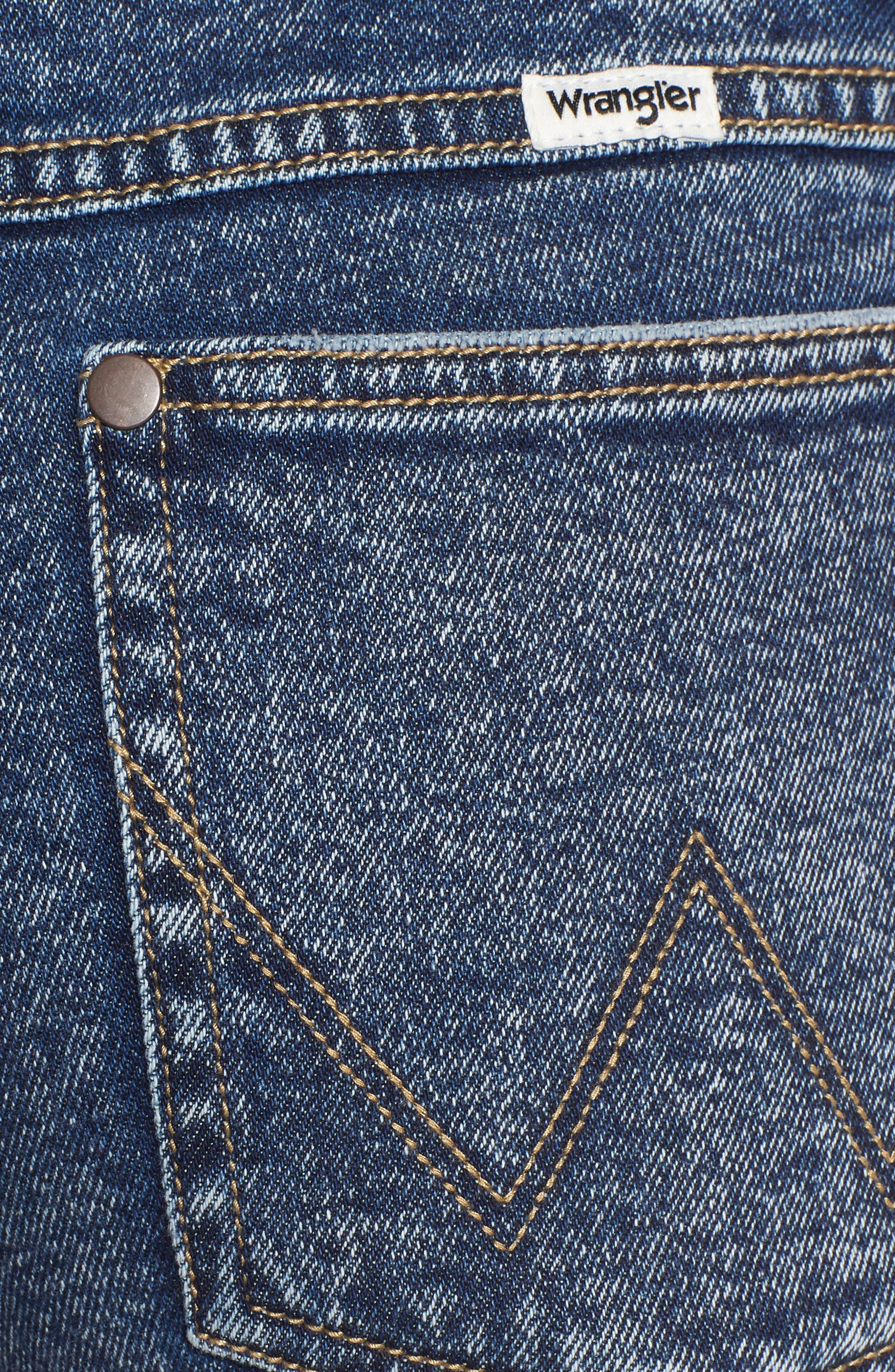 Acid Wash Denim Shorts,                             Alternate thumbnail 6, color,                             401
