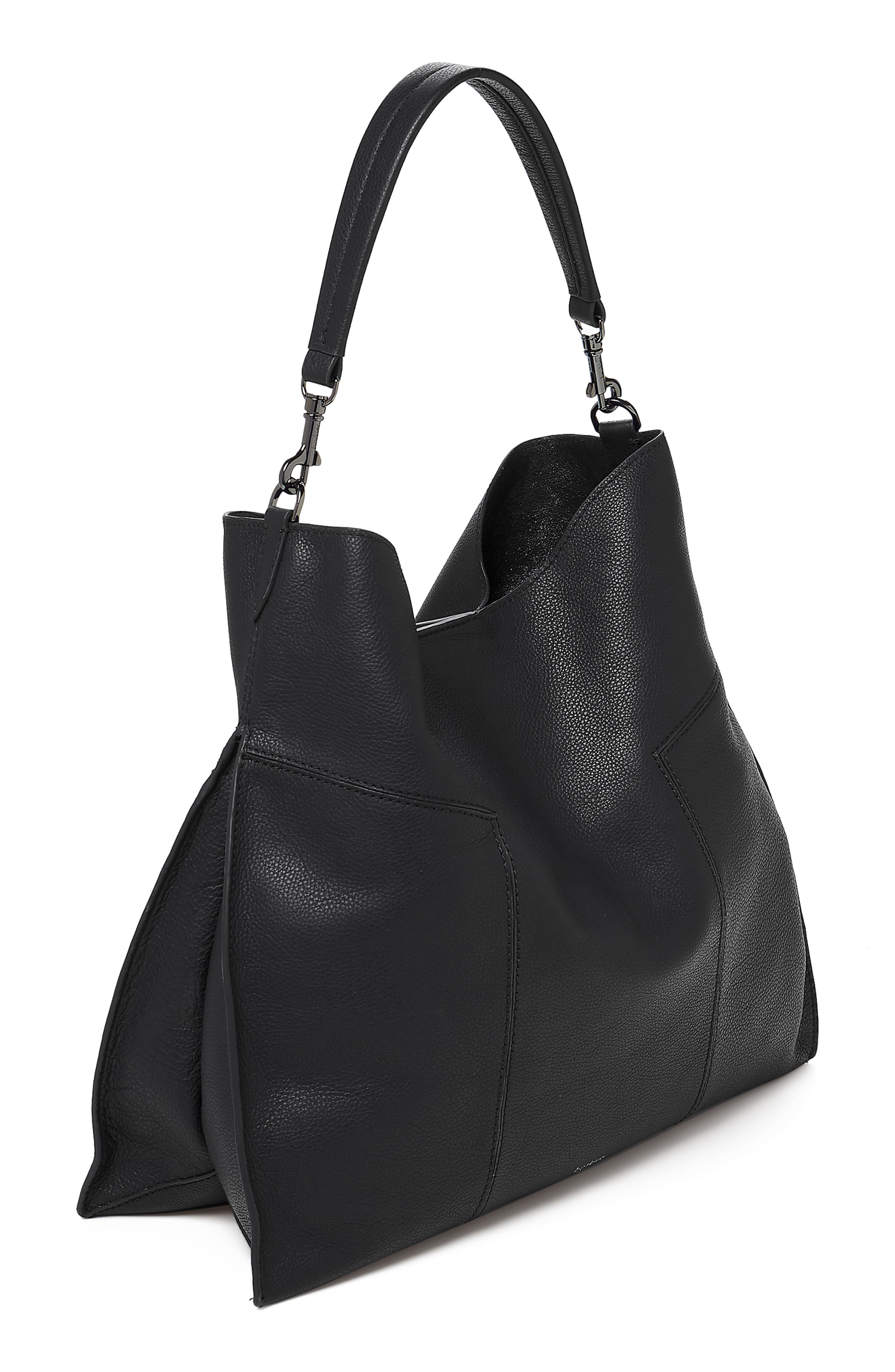 Trigger Pebbled Leather Hobo,                             Alternate thumbnail 2, color,                             BLACK