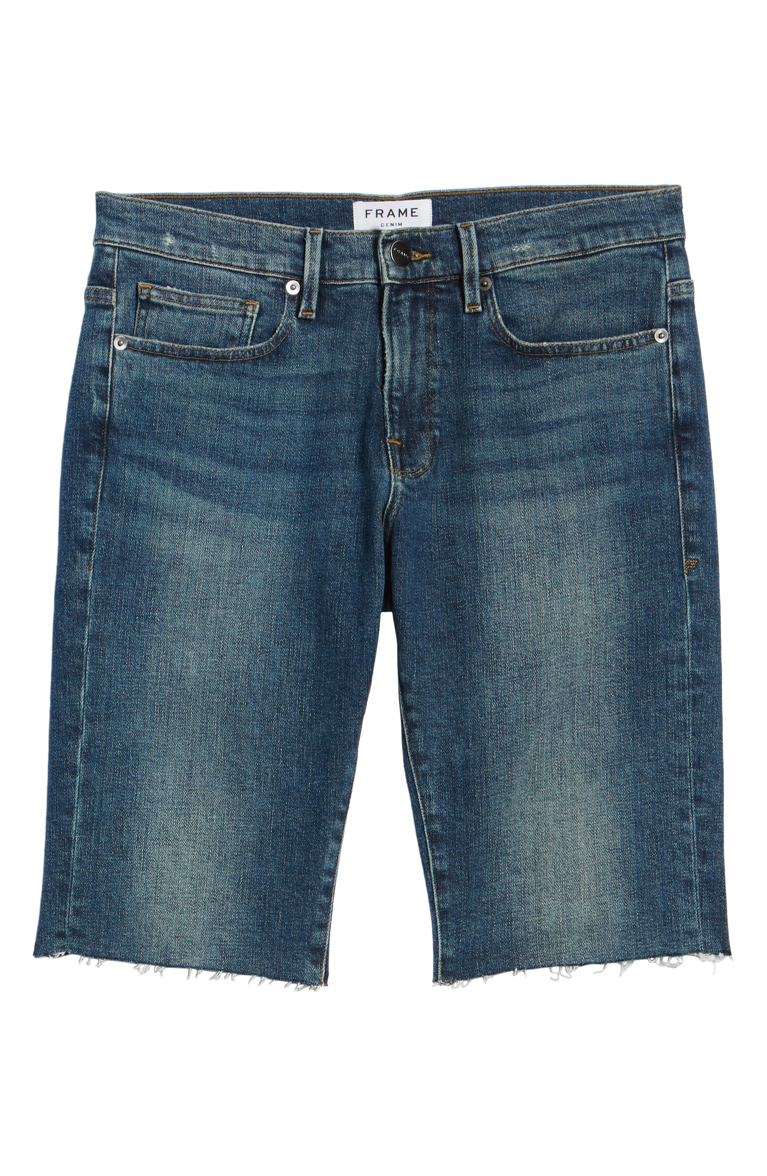 L'Homme Cutoff Shorts,                             Alternate thumbnail 6, color,                             KIRBY