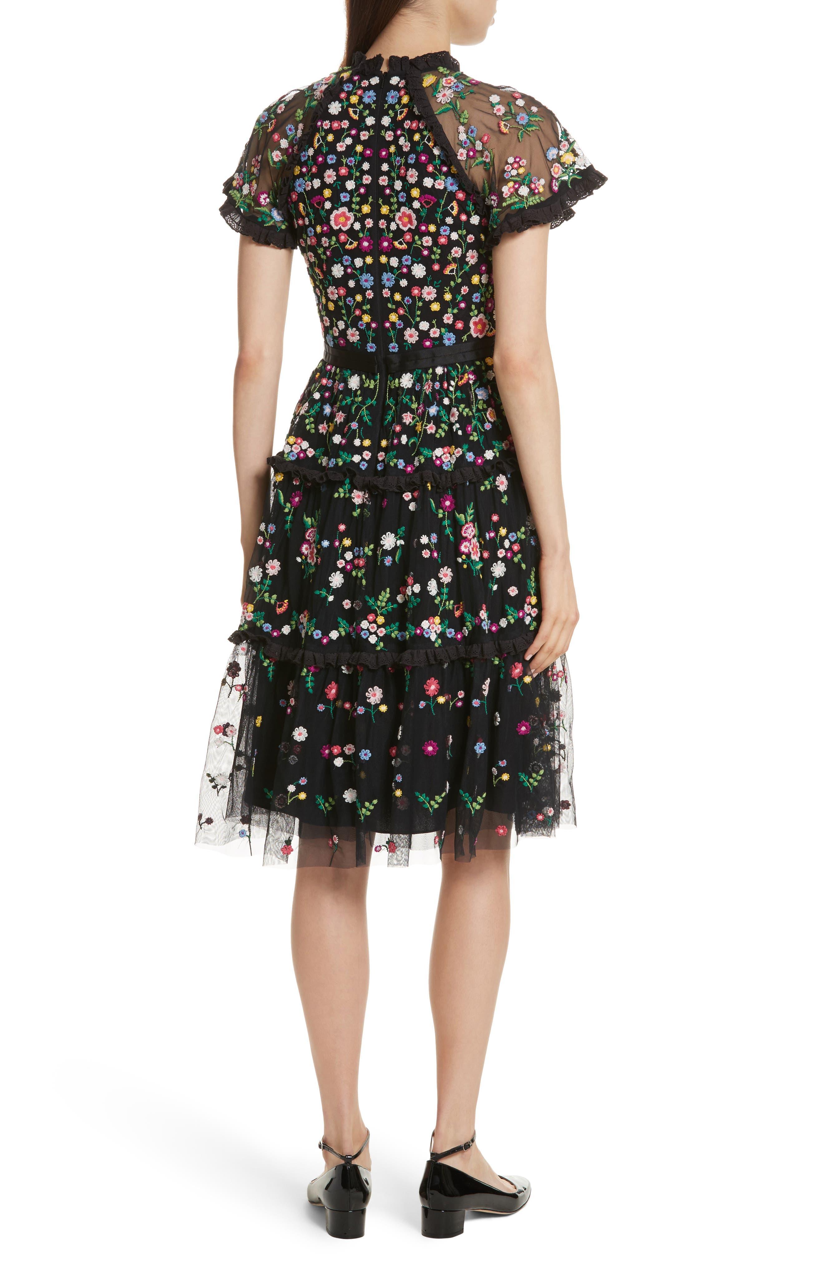 Lazy Daisy Fit & Flare Dress,                             Alternate thumbnail 2, color,                             001