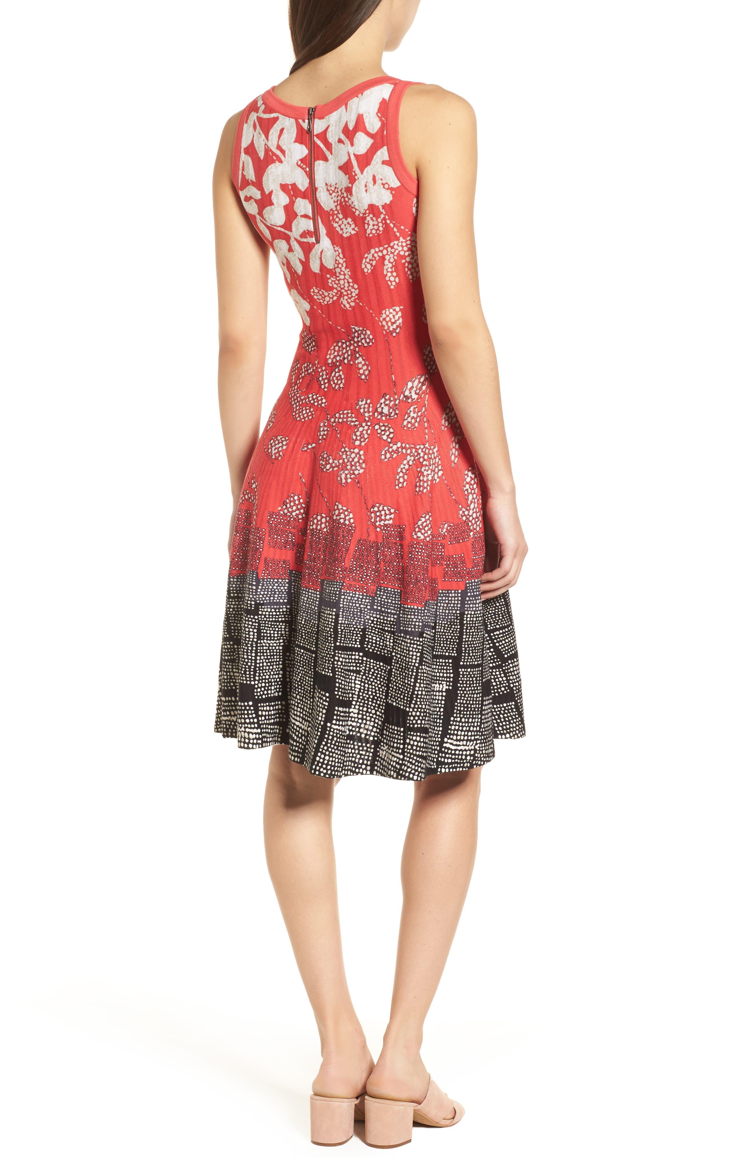 Terrace Twirl Fit & Flare Dress,                             Alternate thumbnail 2, color,