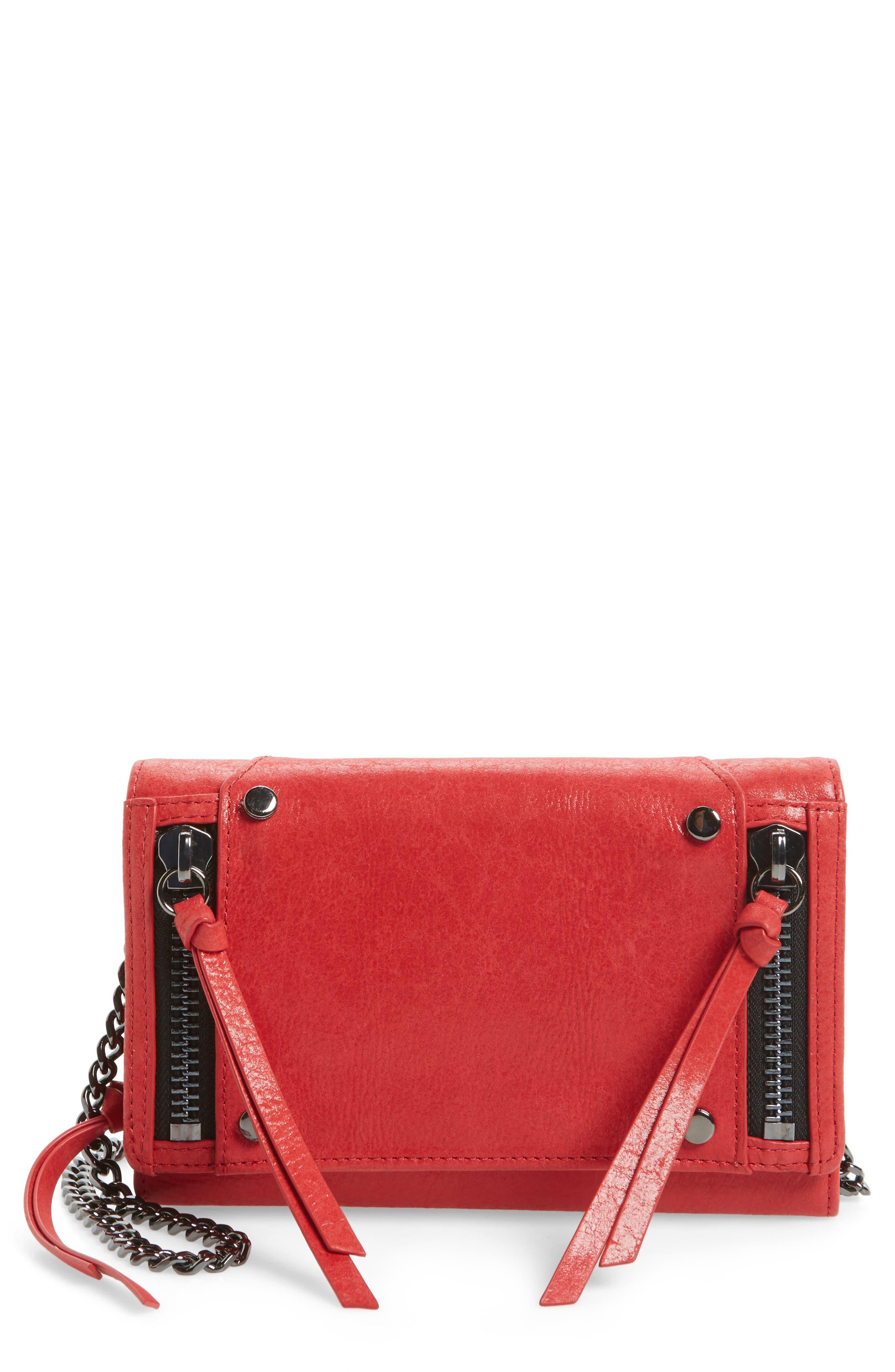 Logan Leather Crossbody Wallet,                             Main thumbnail 4, color,