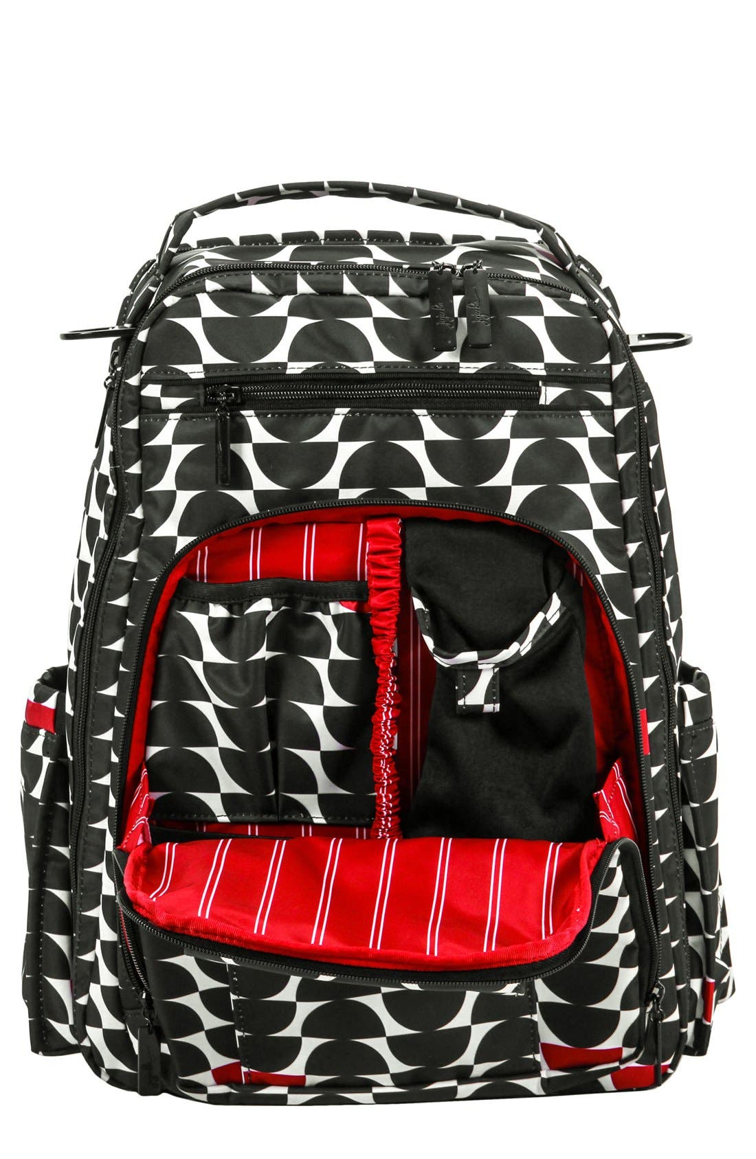 'Be Right Back' Diaper Backpack,                             Main thumbnail 1, color,                             BLACK WIDOW