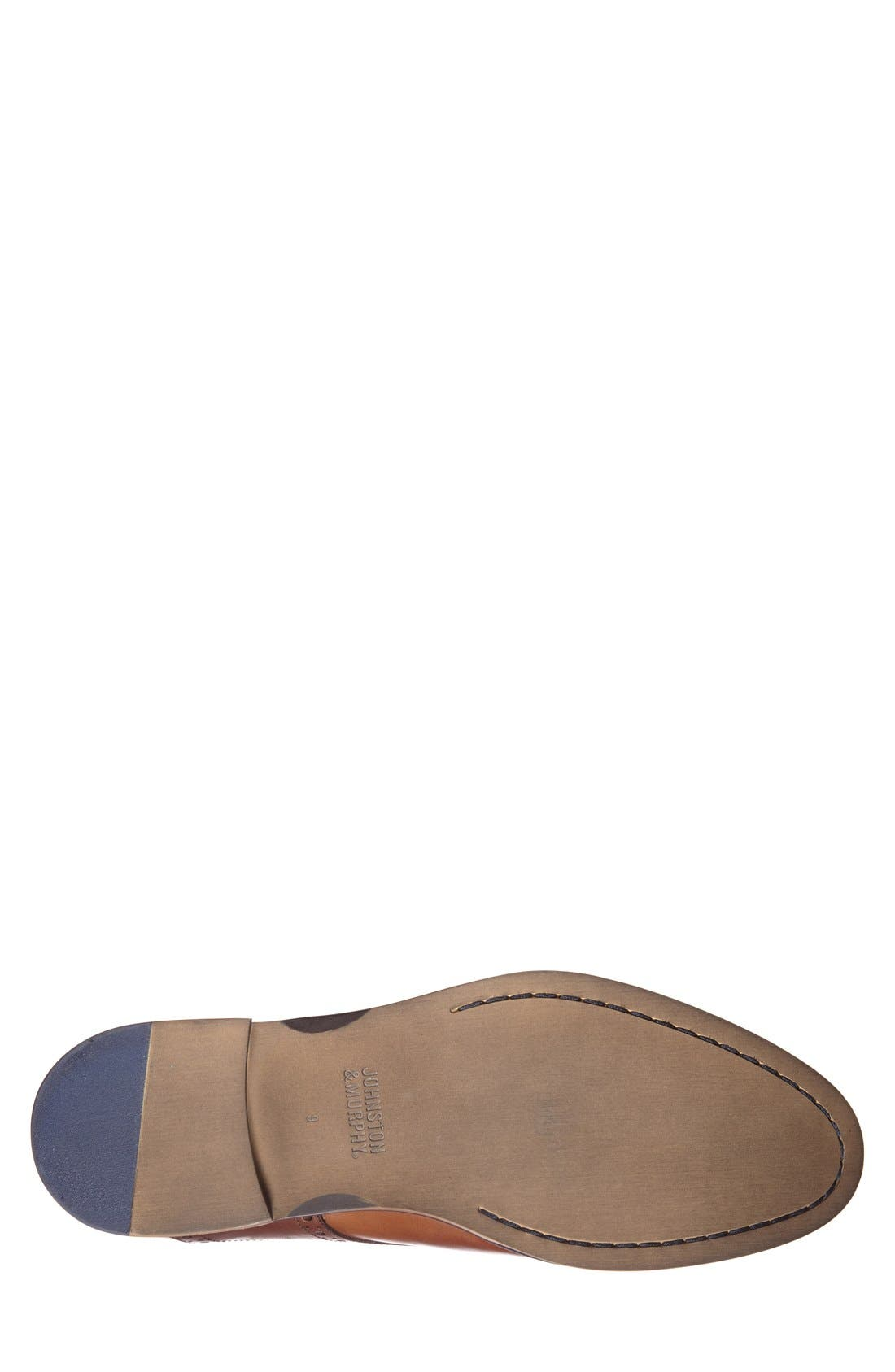 Conard Saddle Shoe,                             Alternate thumbnail 4, color,                             TAN/ DARK BROWN