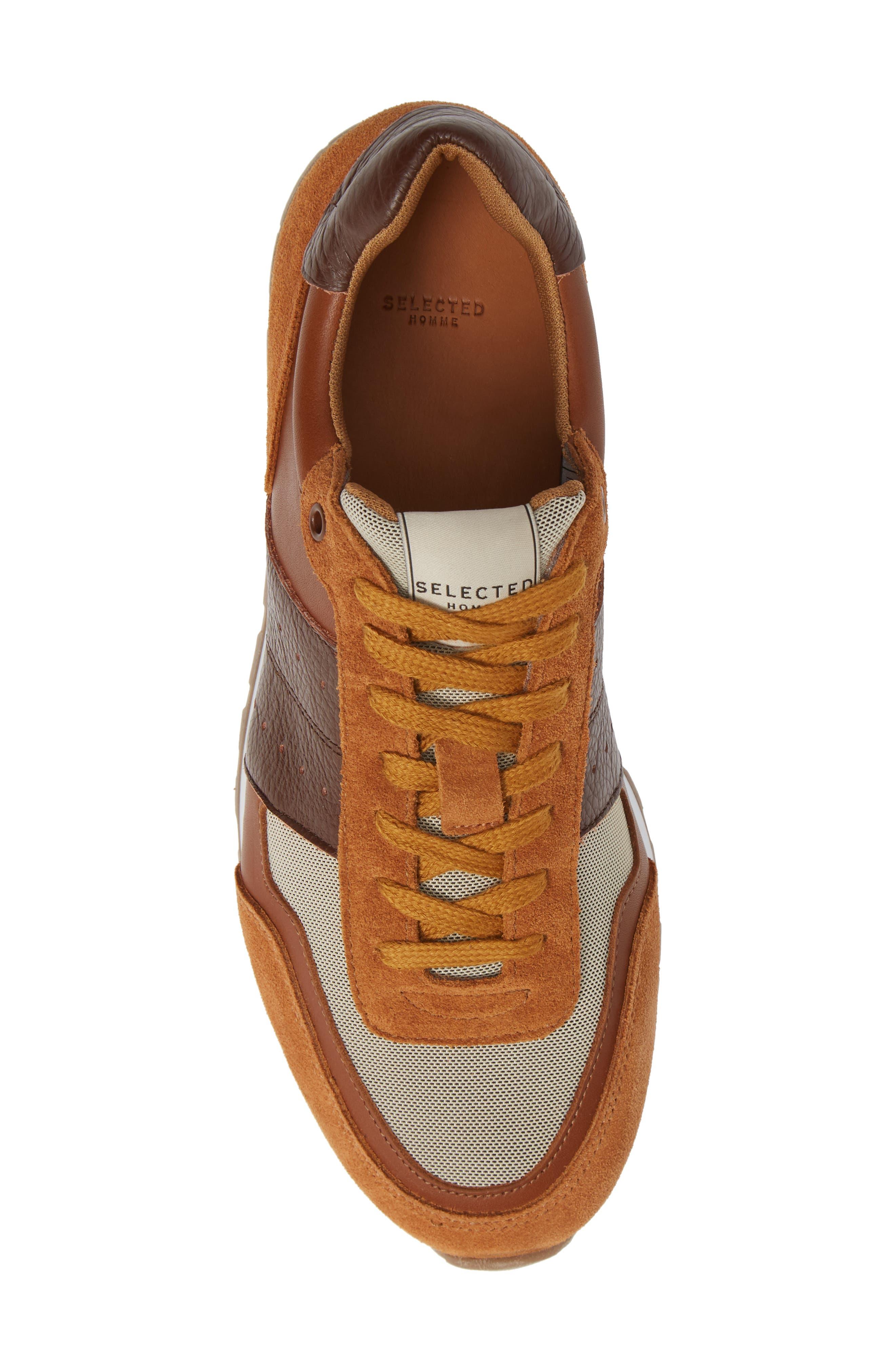 Frank Mix Sneaker,                             Alternate thumbnail 5, color,                             GLAZED GINGER