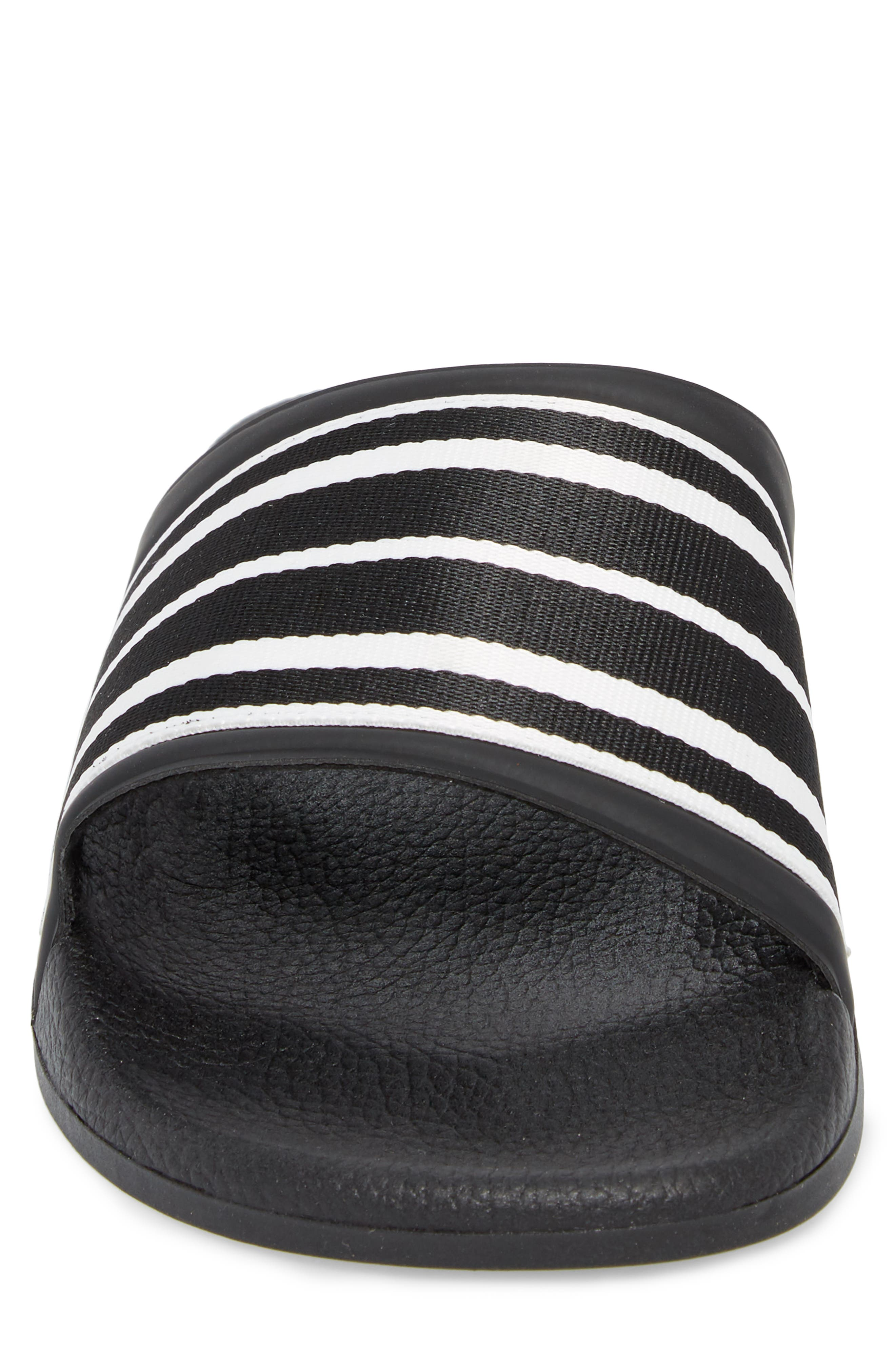 Patterned Sport Slide,                             Alternate thumbnail 4, color,                             BLACK/ BLACK