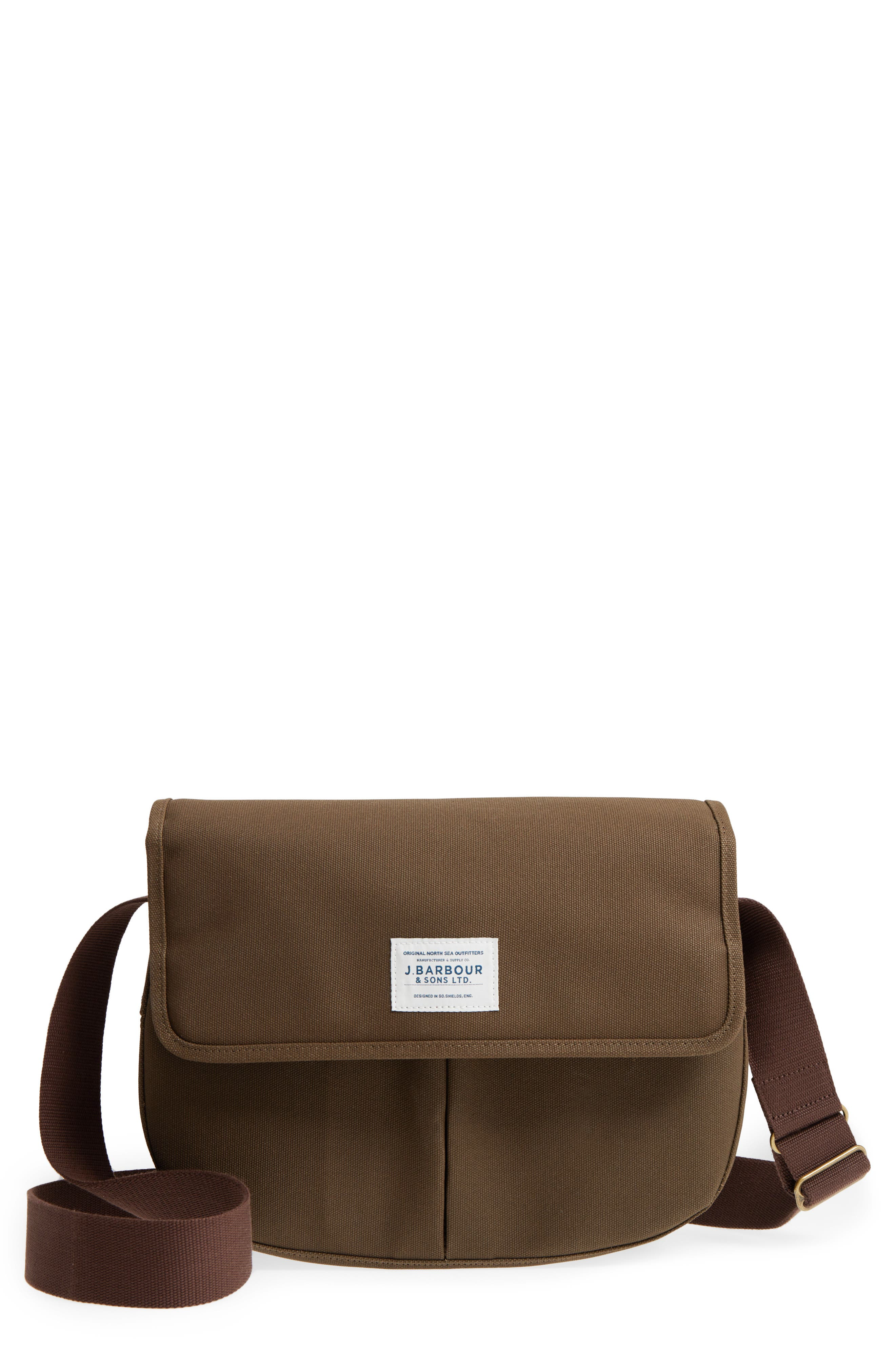 Tarras Canvas Messenger Bag,                         Main,                         color, OLIVE