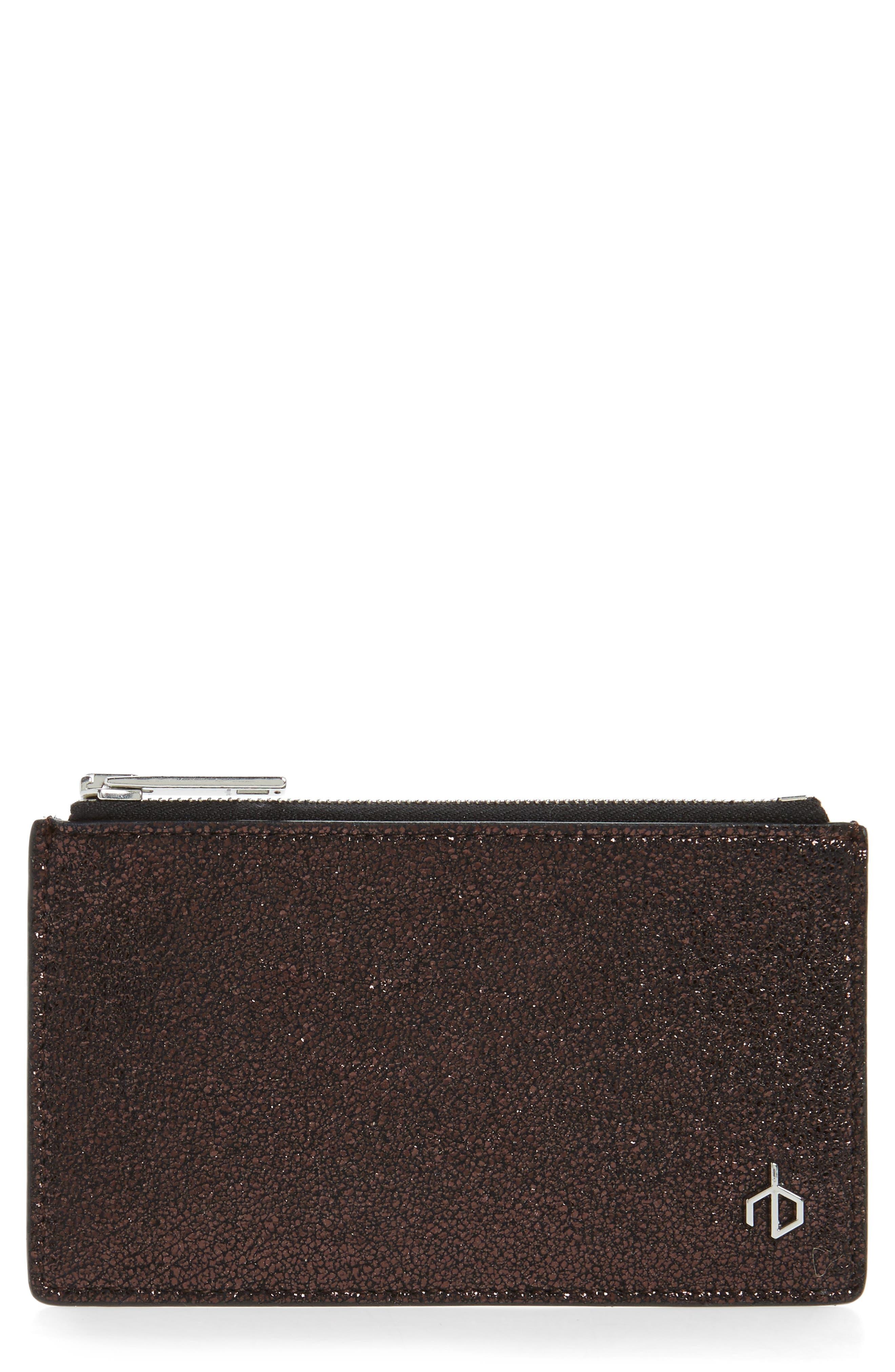 Metallic Leather Card Case,                         Main,                         color, 220