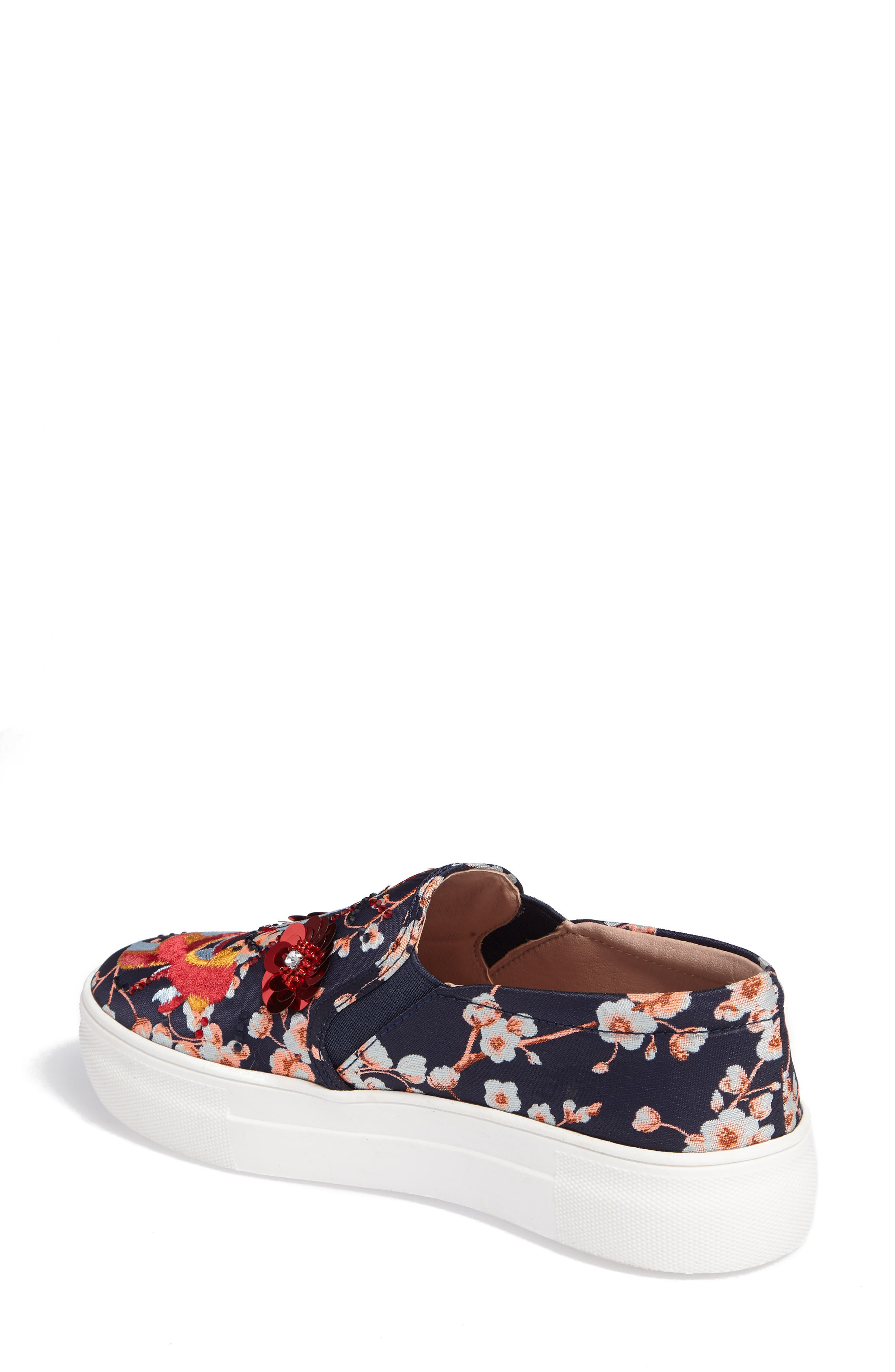 Theory Goldfish Embellished Slip-On Sneaker,                             Alternate thumbnail 2, color,                             001