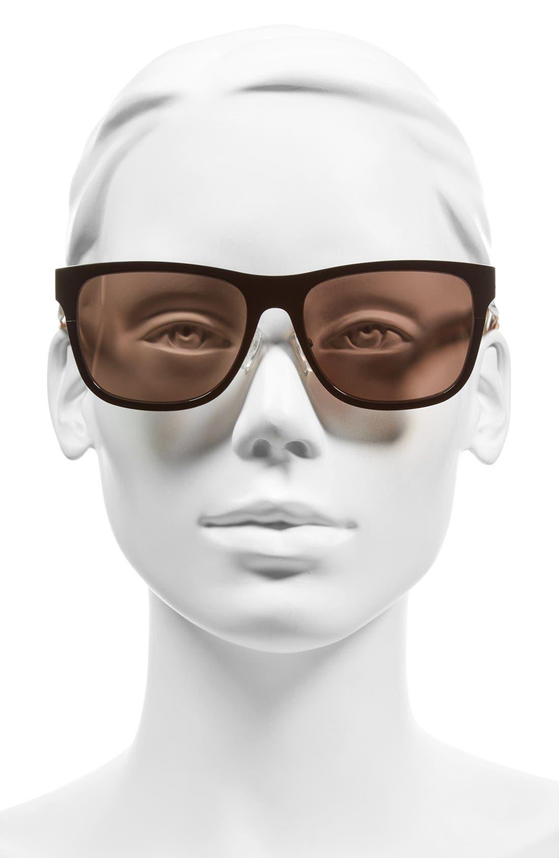 'The Zach' 56mm Retro Sunglasses,                             Alternate thumbnail 7, color,