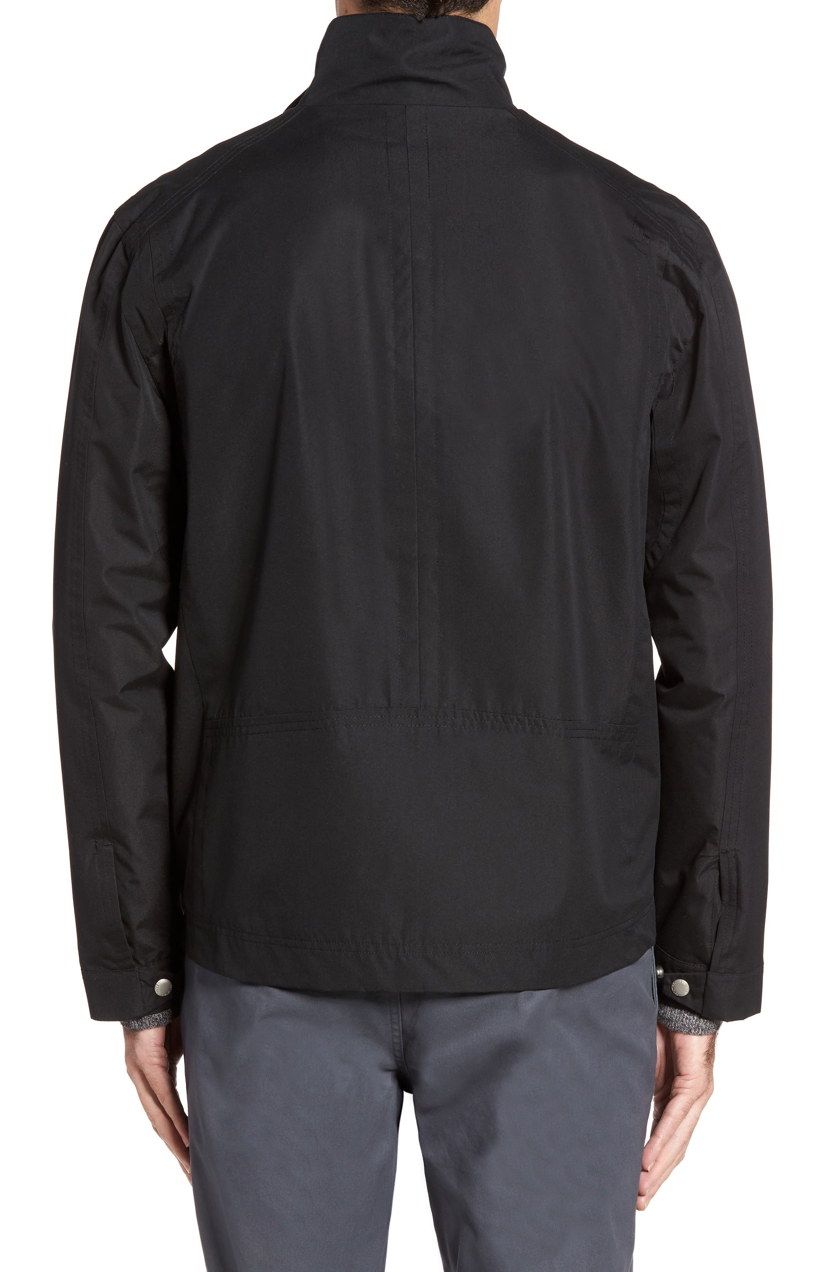 Stand Collar Water Repellent Jacket,                             Alternate thumbnail 2, color,                             001