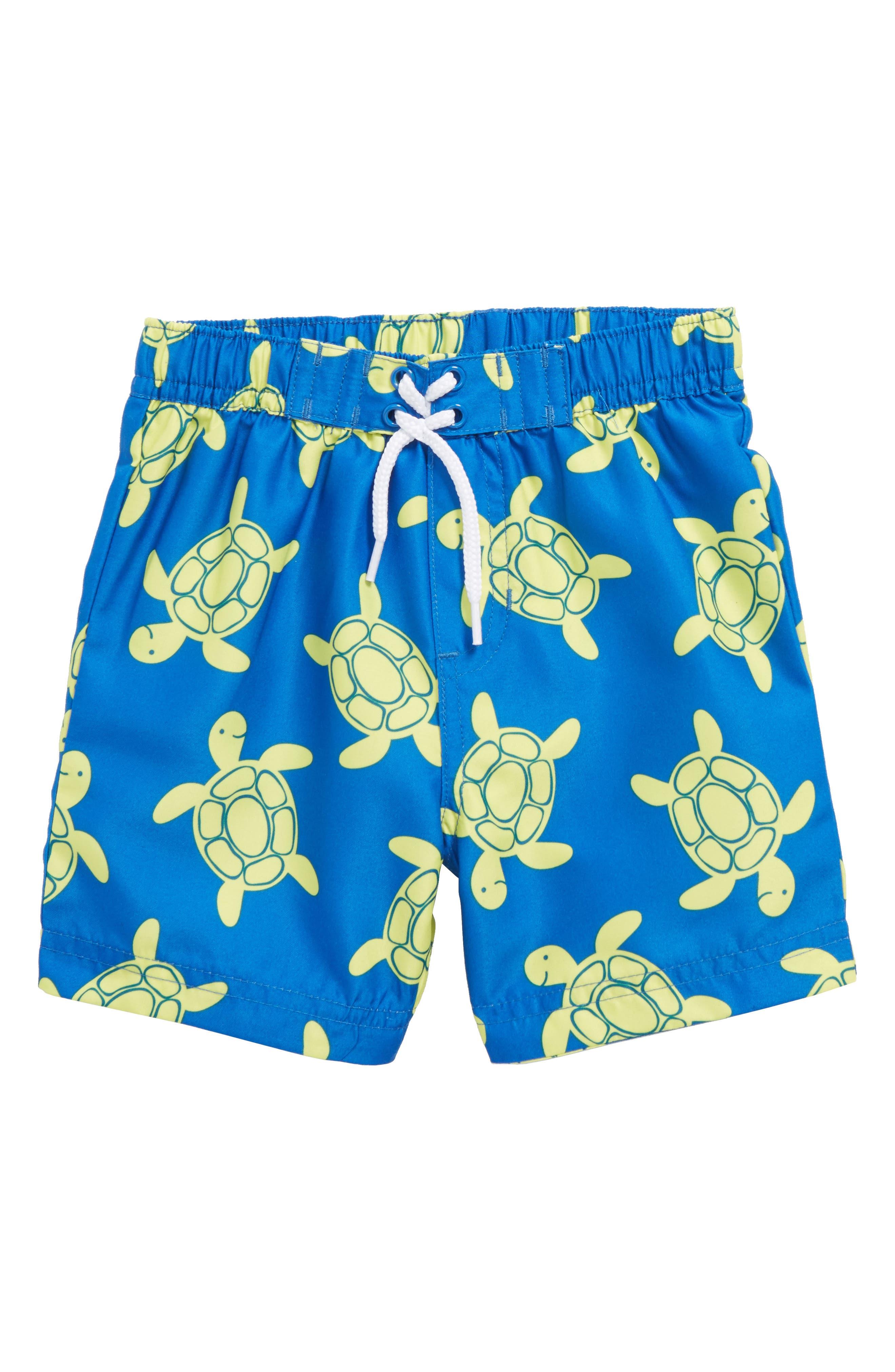 Turtle UPF 50+ Swim Trunks,                             Main thumbnail 1, color,