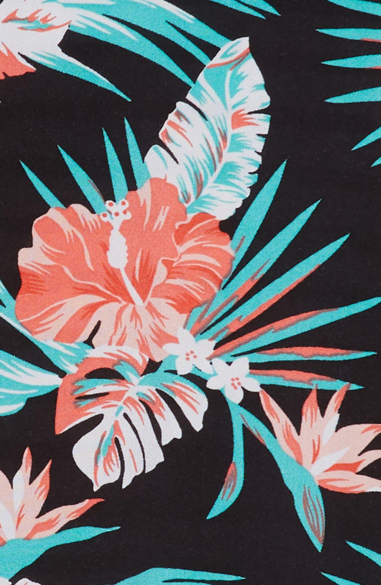 Tropical Stripe Shirtdress,                             Alternate thumbnail 3, color,                             001
