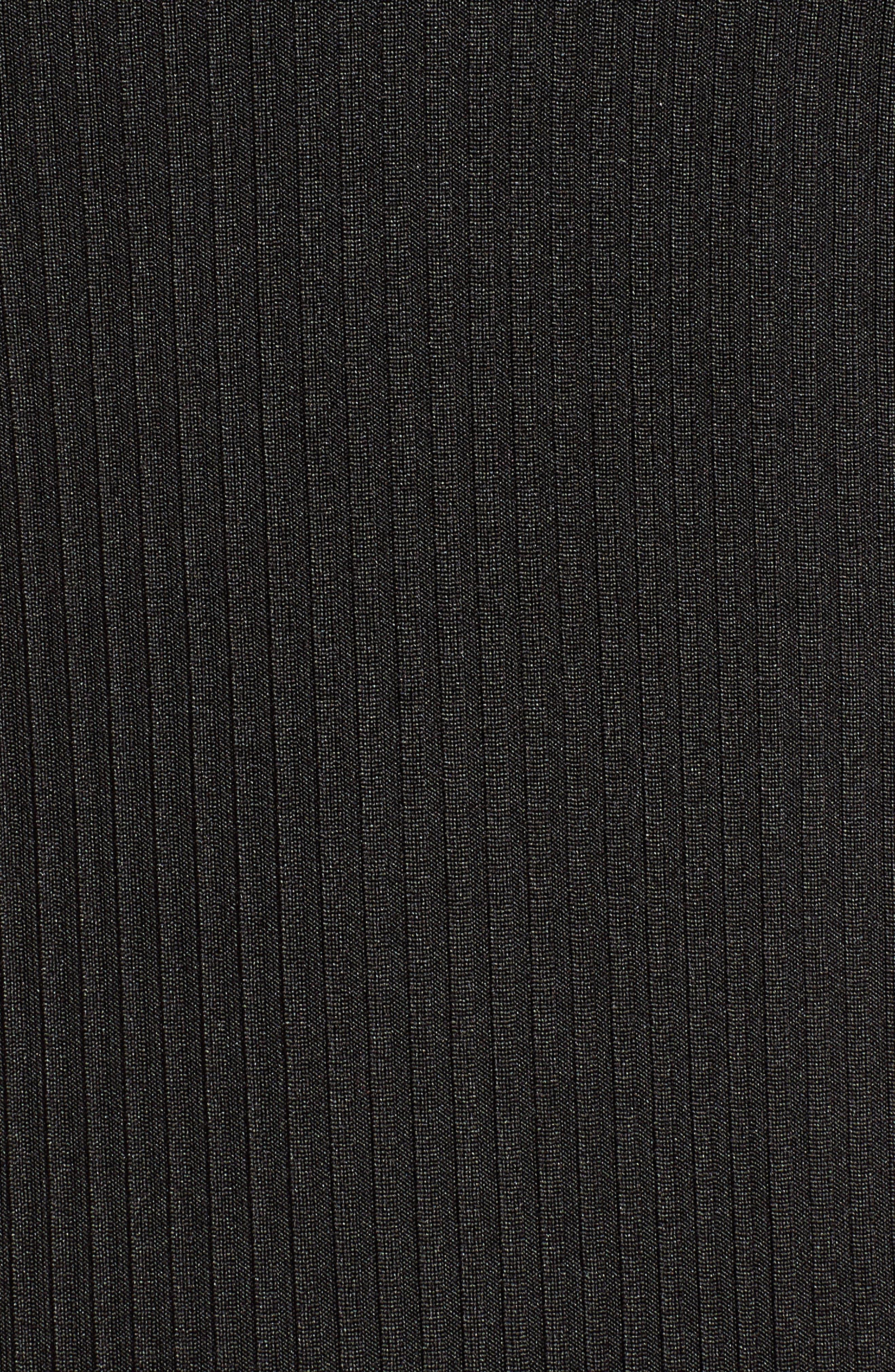 Ribbed Bodysuit,                             Alternate thumbnail 5, color,                             BLACK