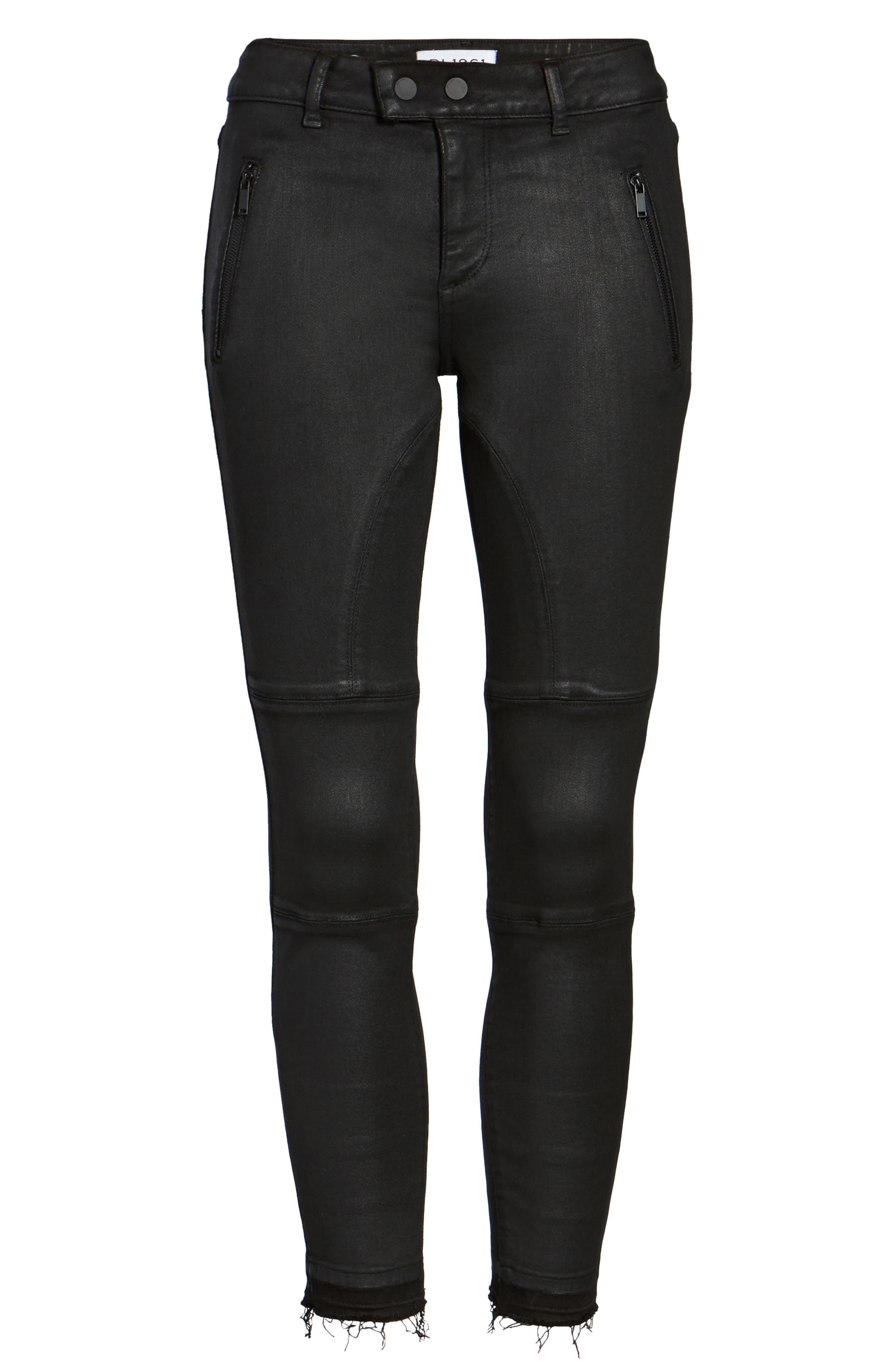 Florence Instasculpt Crop Skinny Jeans,                             Alternate thumbnail 6, color,                             001