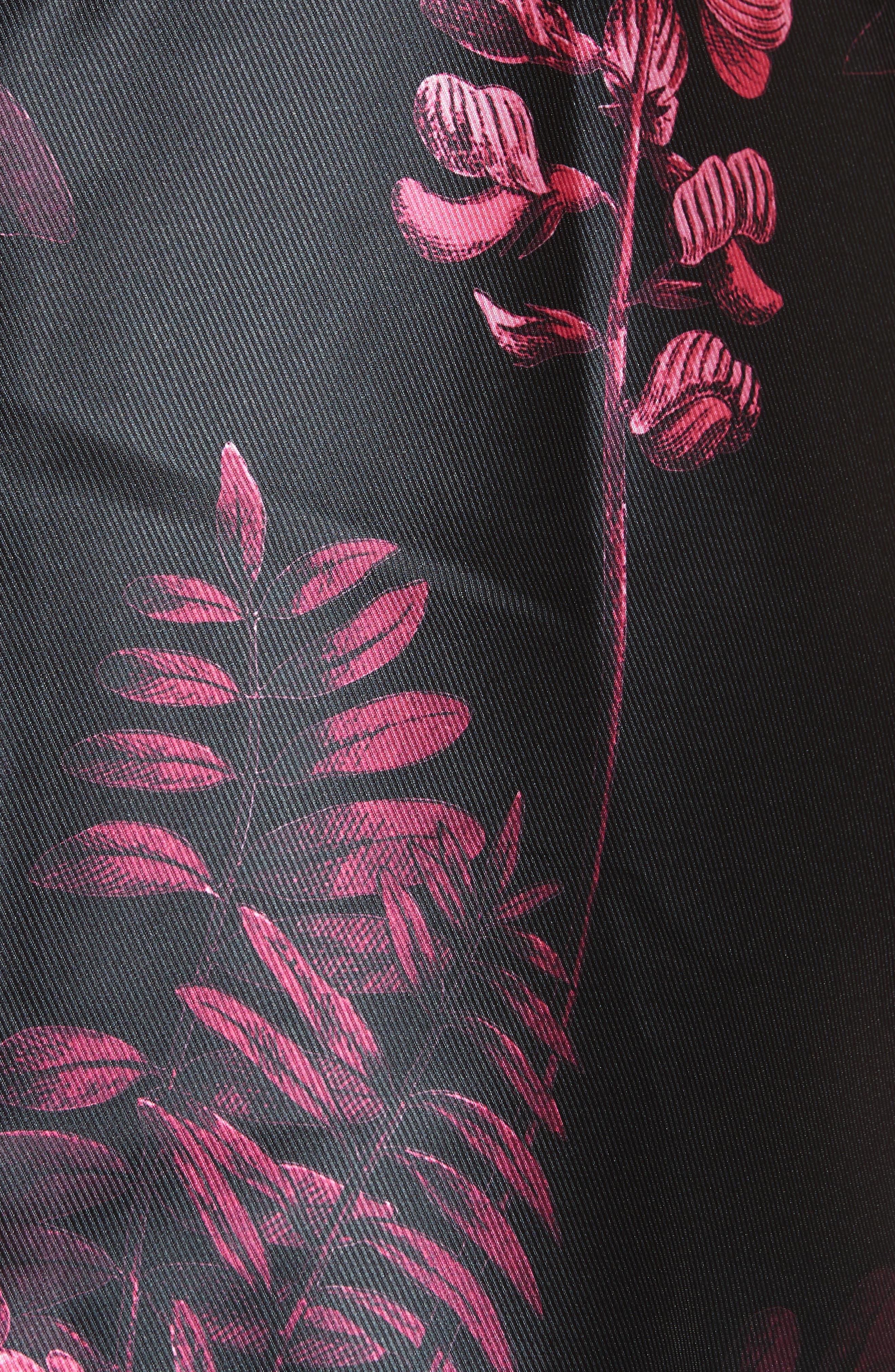 Jebby Splendor Jacquard Fit & Flare Dress,                             Alternate thumbnail 5, color,                             001