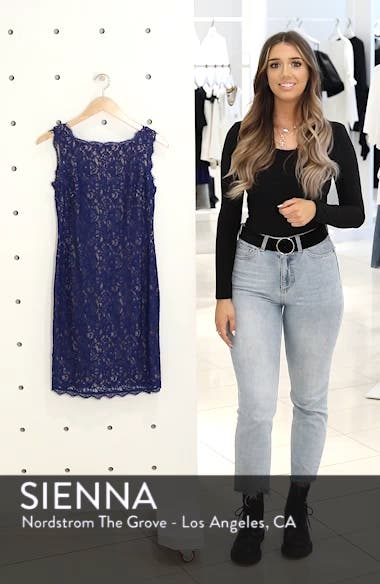 Boatneck Lace Sheath Dress, sales video thumbnail