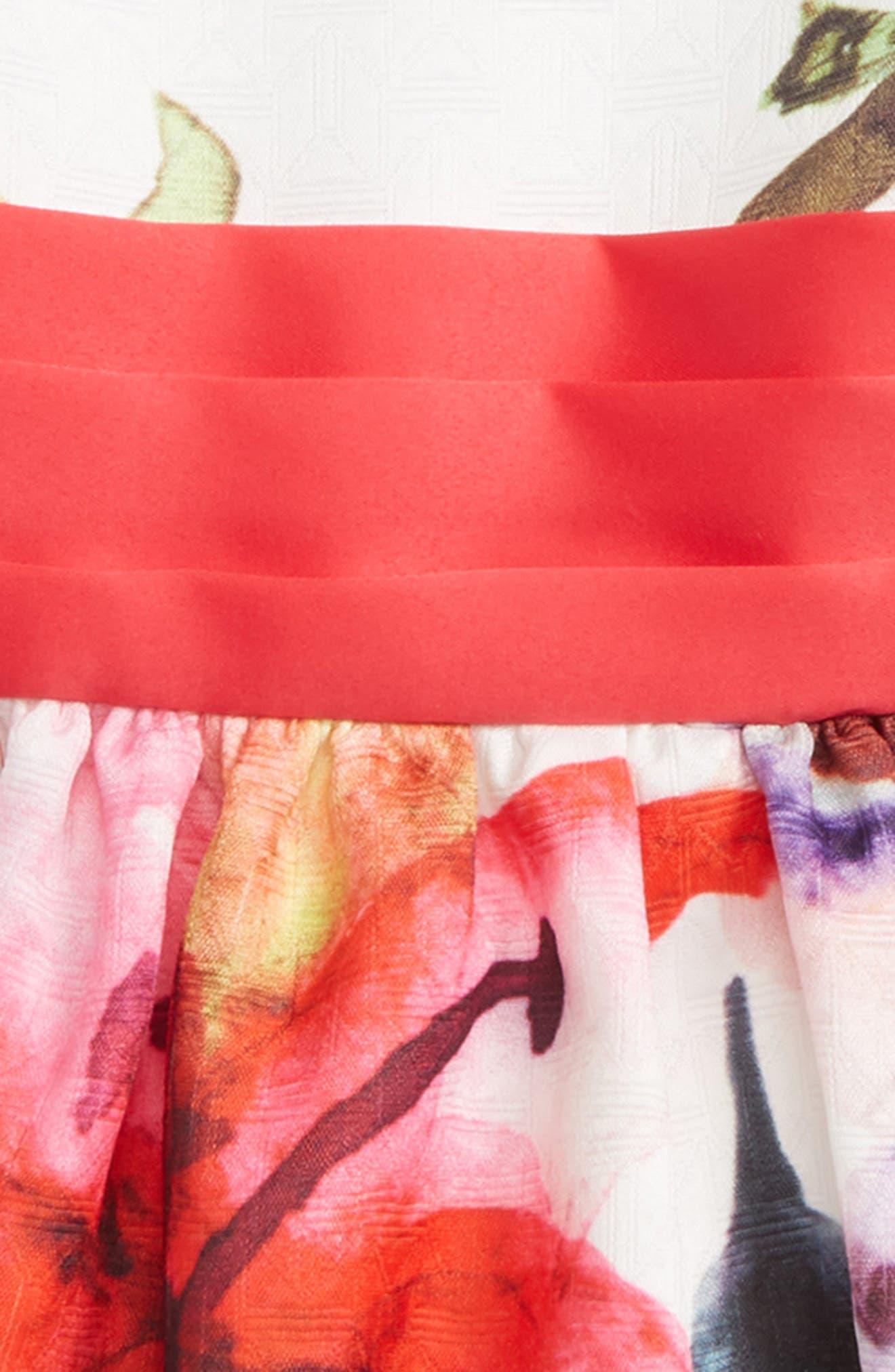 Laura Flower Party Dress,                             Alternate thumbnail 2, color,                             650