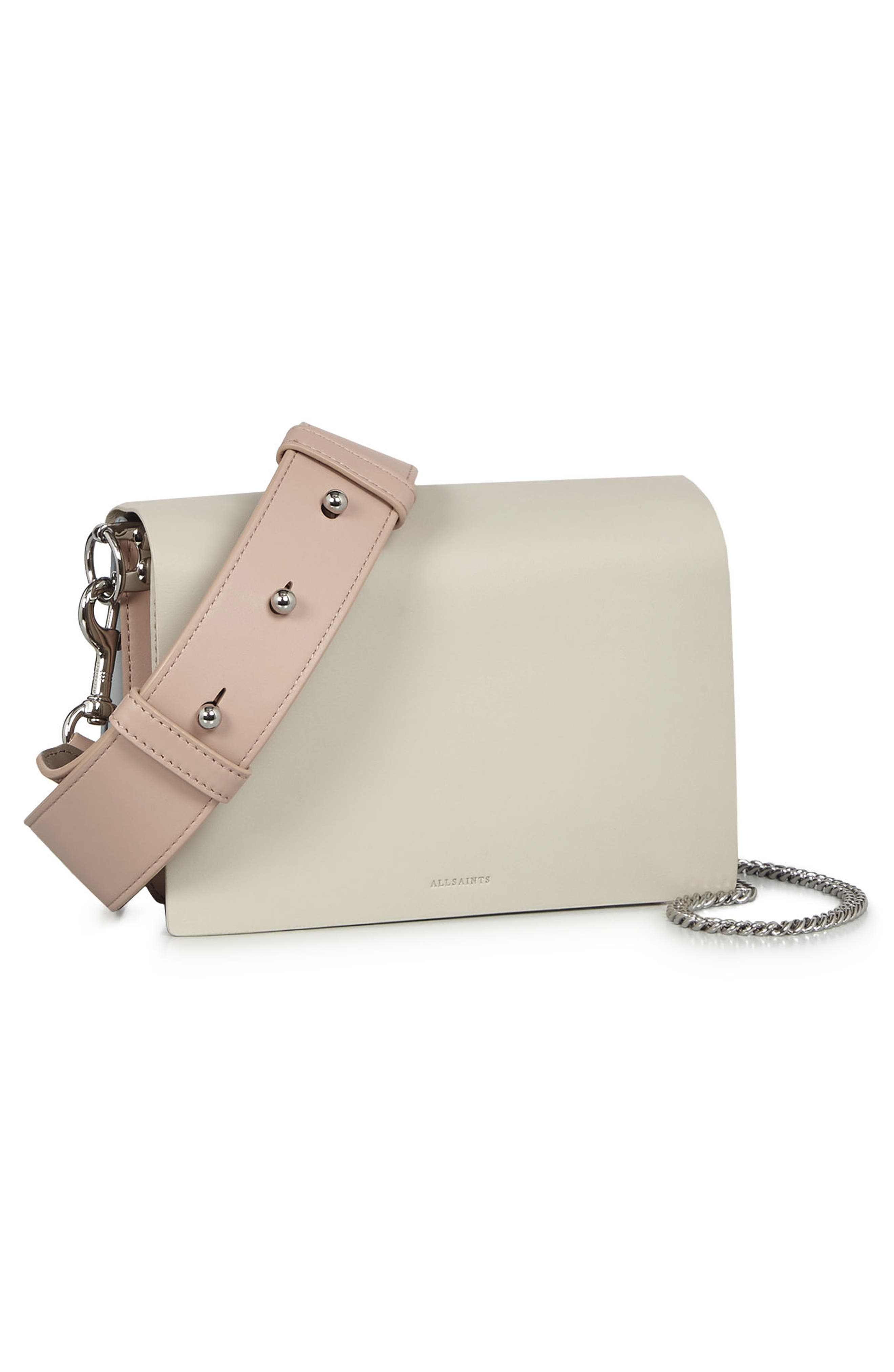 Zep Colorblock Leather Shoulder Bag,                             Alternate thumbnail 6, color,                             115