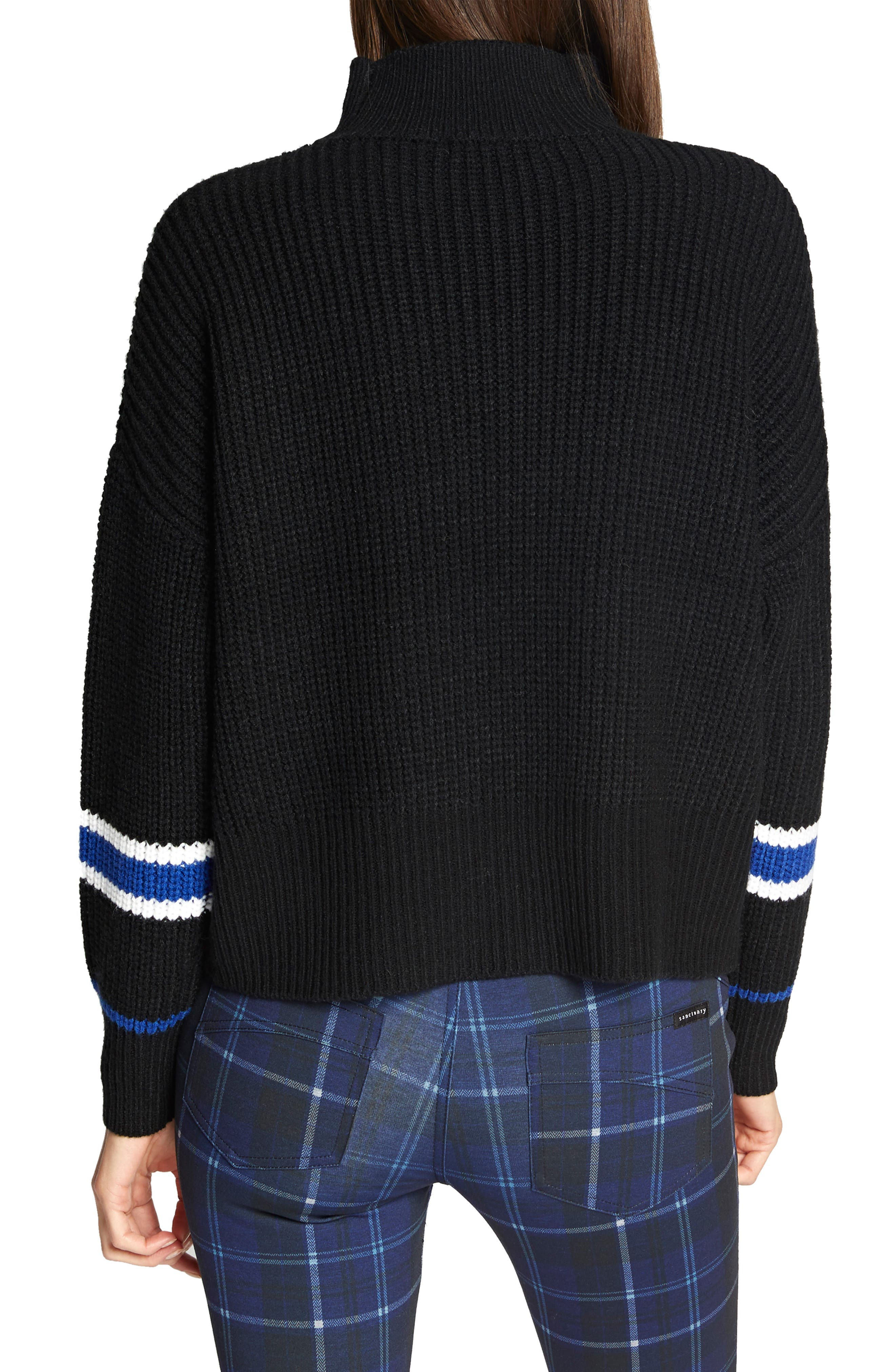 Speedway Sweater,                             Alternate thumbnail 2, color,                             BLACK