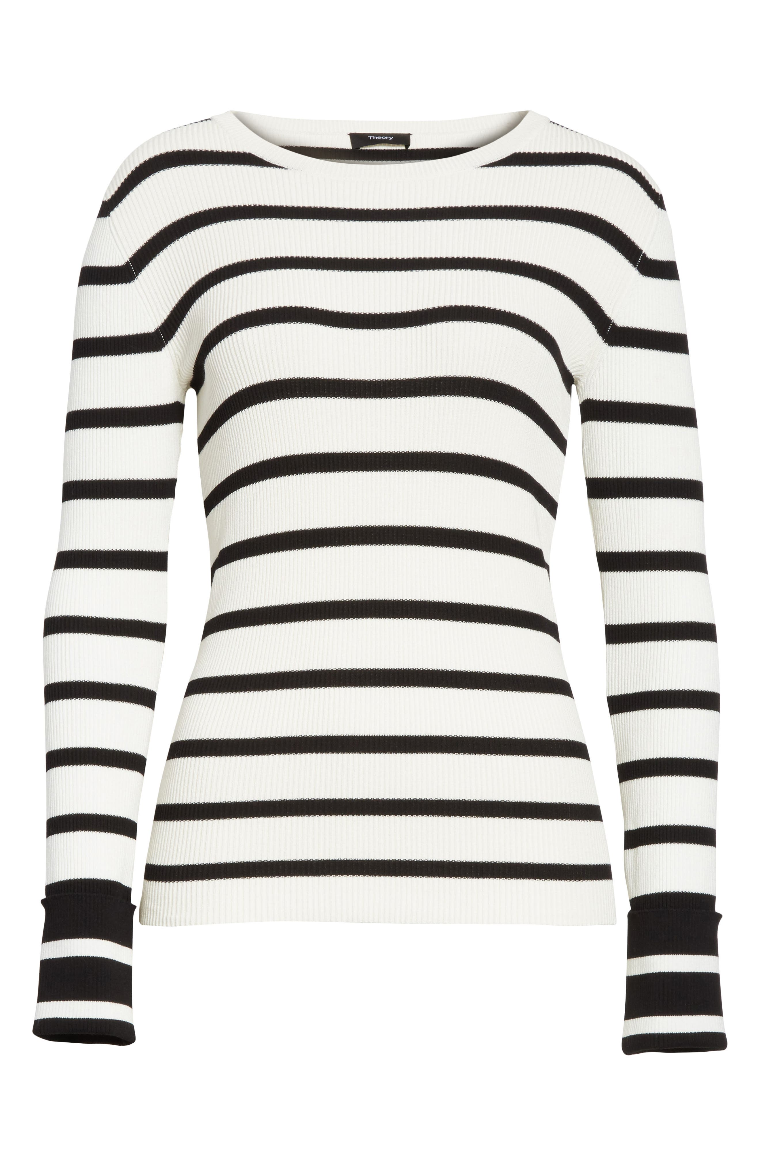 Stripe Rib Crewneck Pullover,                             Alternate thumbnail 6, color,                             907