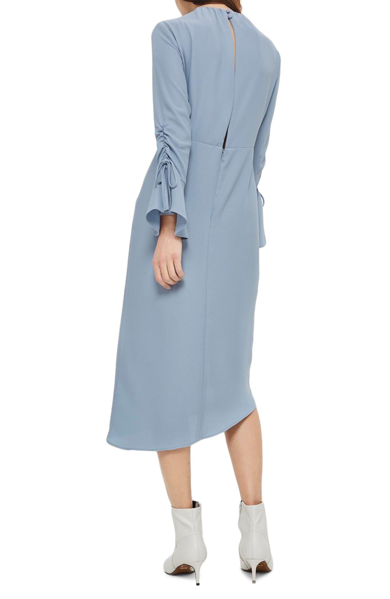 Ruched Asymmetrical Midi Dress,                             Alternate thumbnail 2, color,                             450